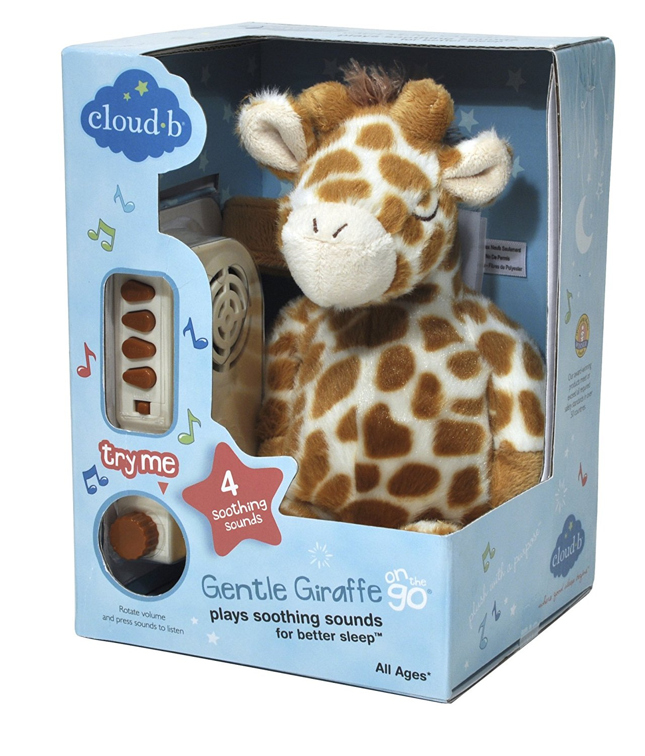 Cloud b On The Go Travel Sound Machine Soother, Gentle Giraffe ...