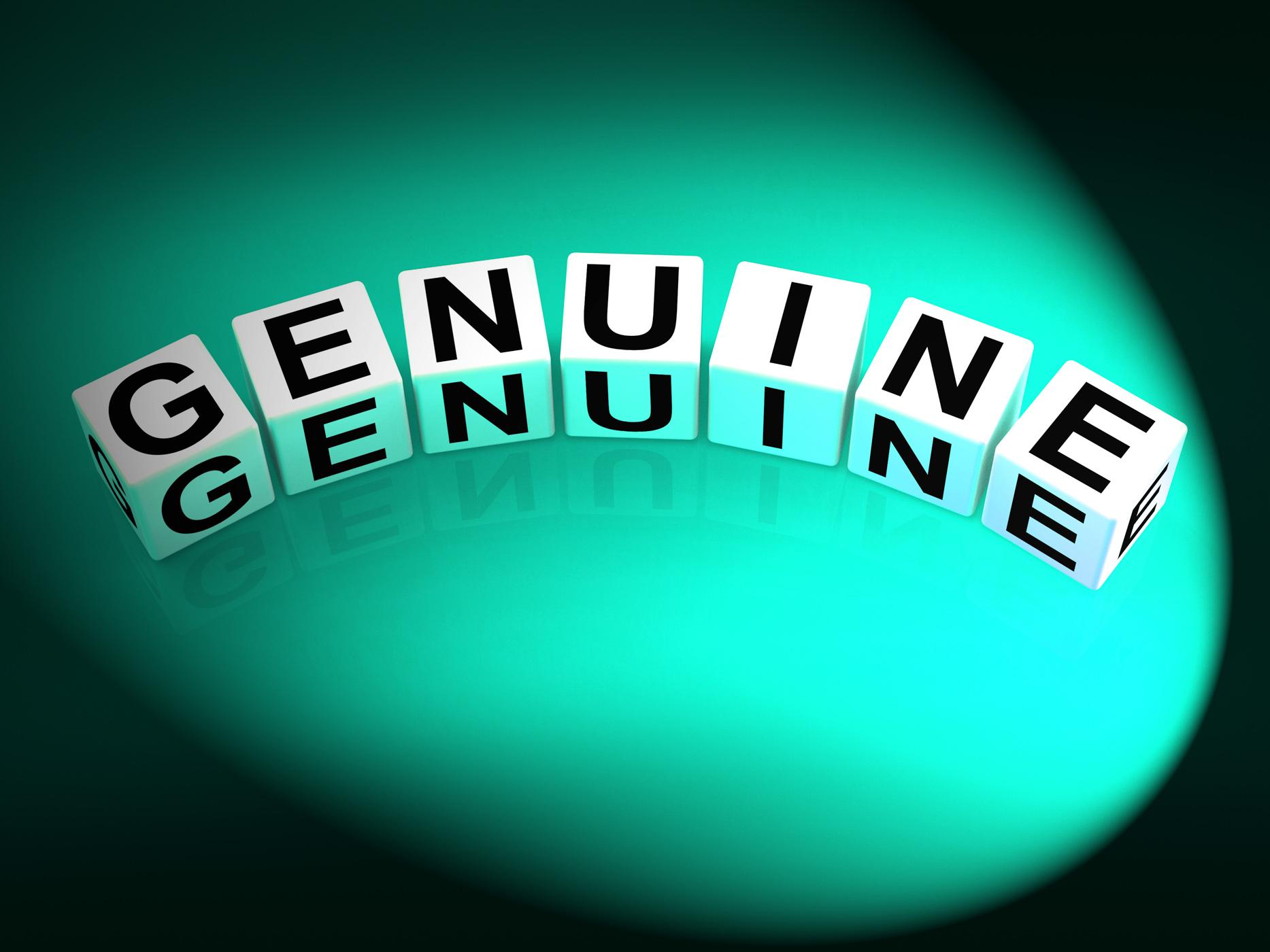 Genuine dice mean authentic legitimate and real photo