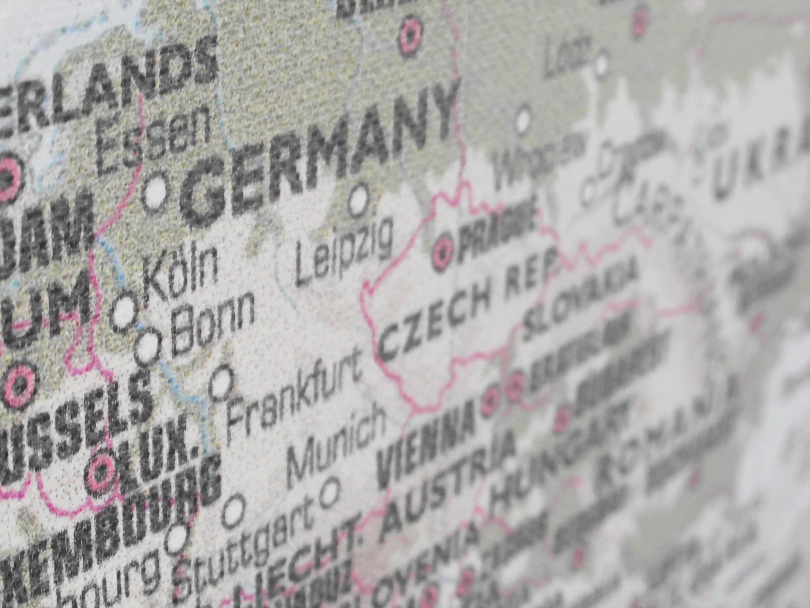 Germany Map, Atlas, Koln, Republic, Prague, HQ Photo