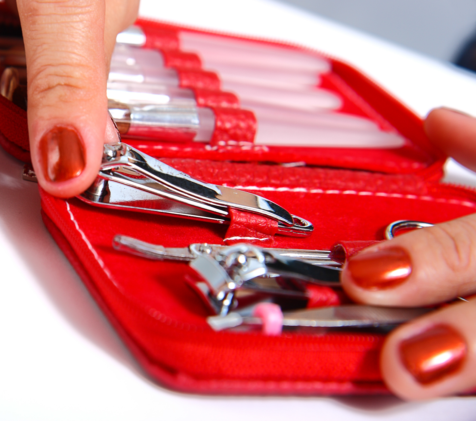 Getting Nail Clippers From A Manicure Set, Kit, Treatment, Tool, Tidy, HQ Photo