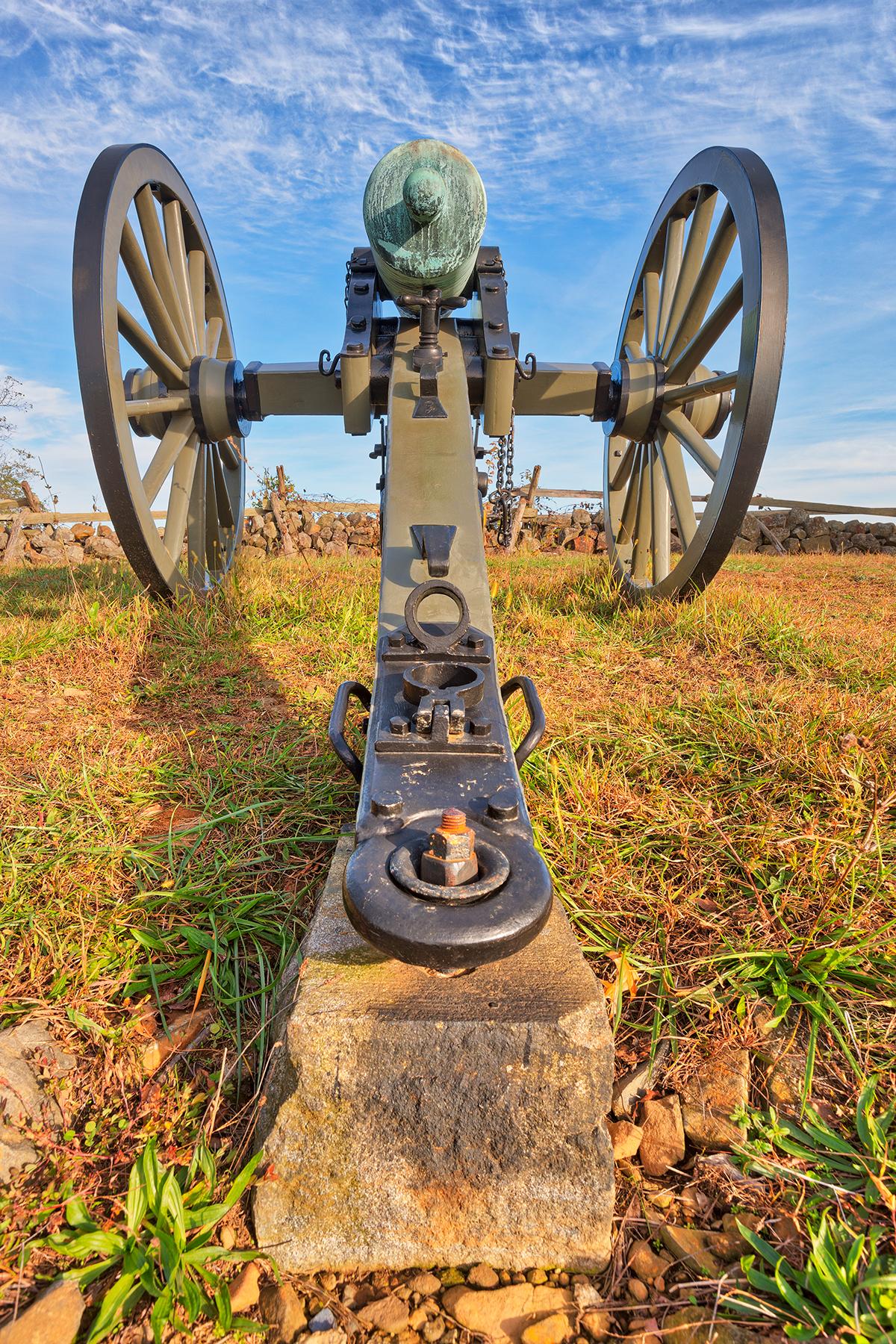 Gettysburg cannon - hdr photo