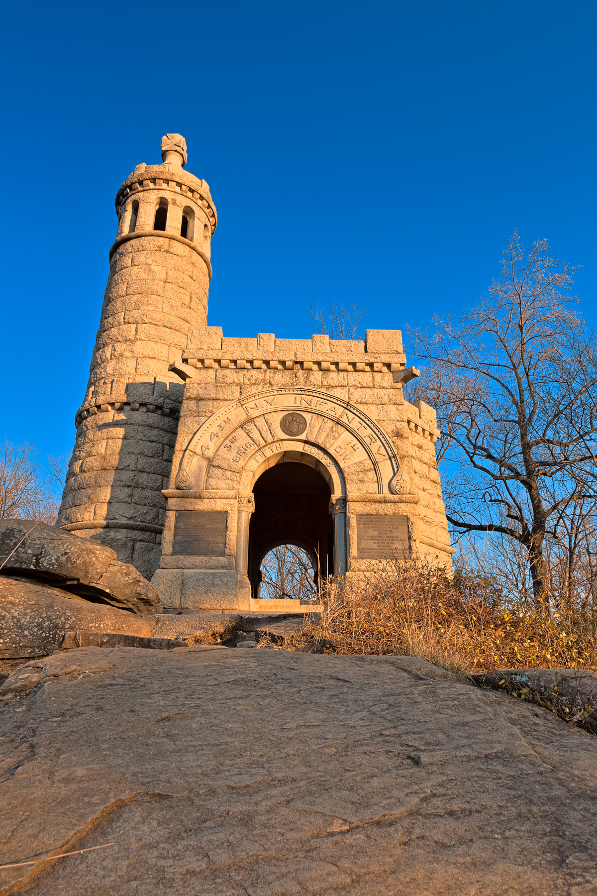 Gettysburg castle monument - hdr photo
