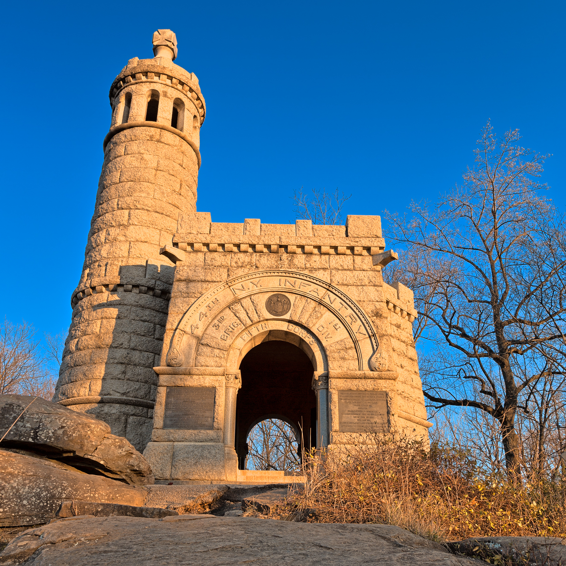 Gettysburg Castle Monument - HDR, Orange, Round, Rocky, Rocks, HQ Photo
