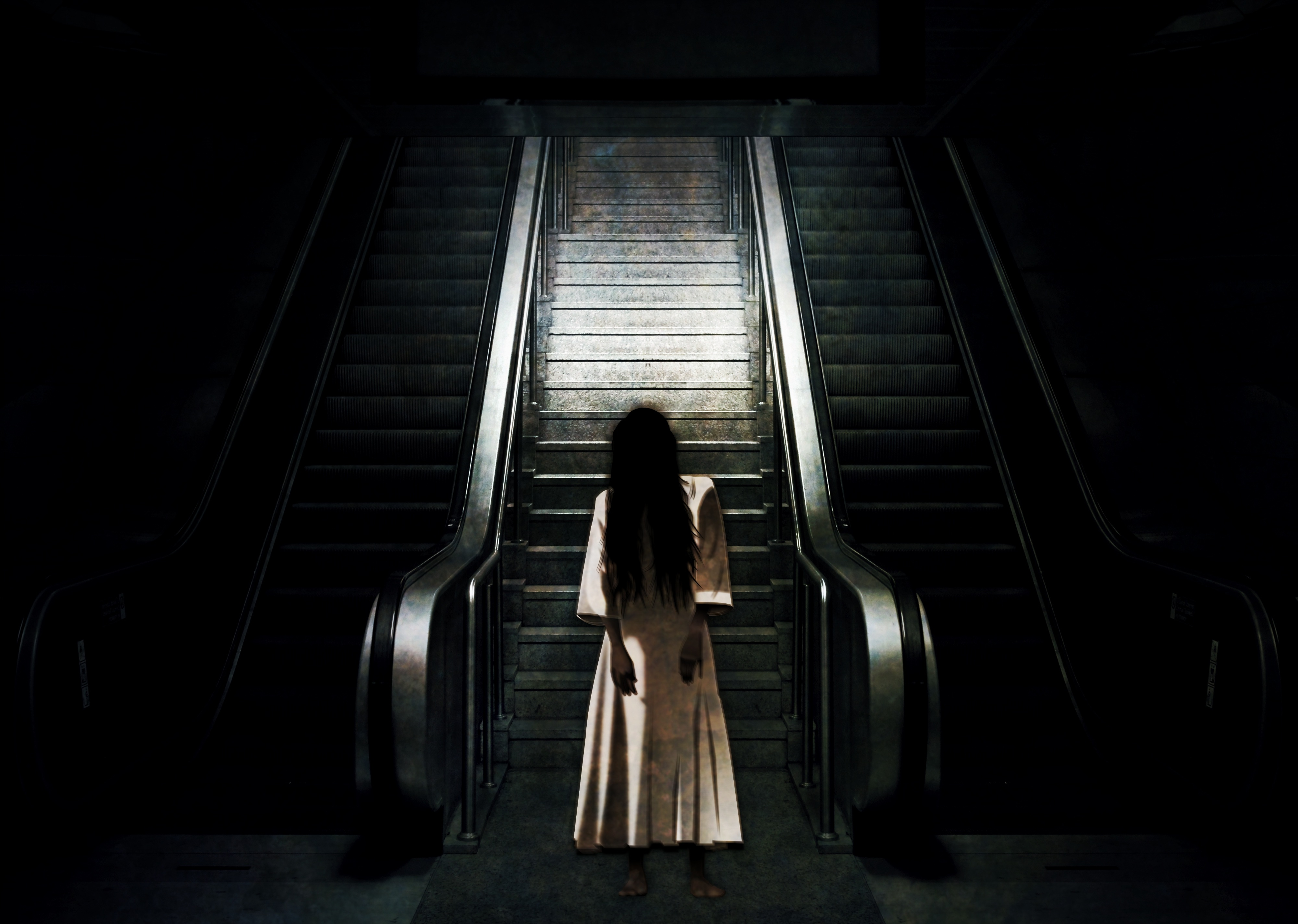 Ghost by the escalator photo