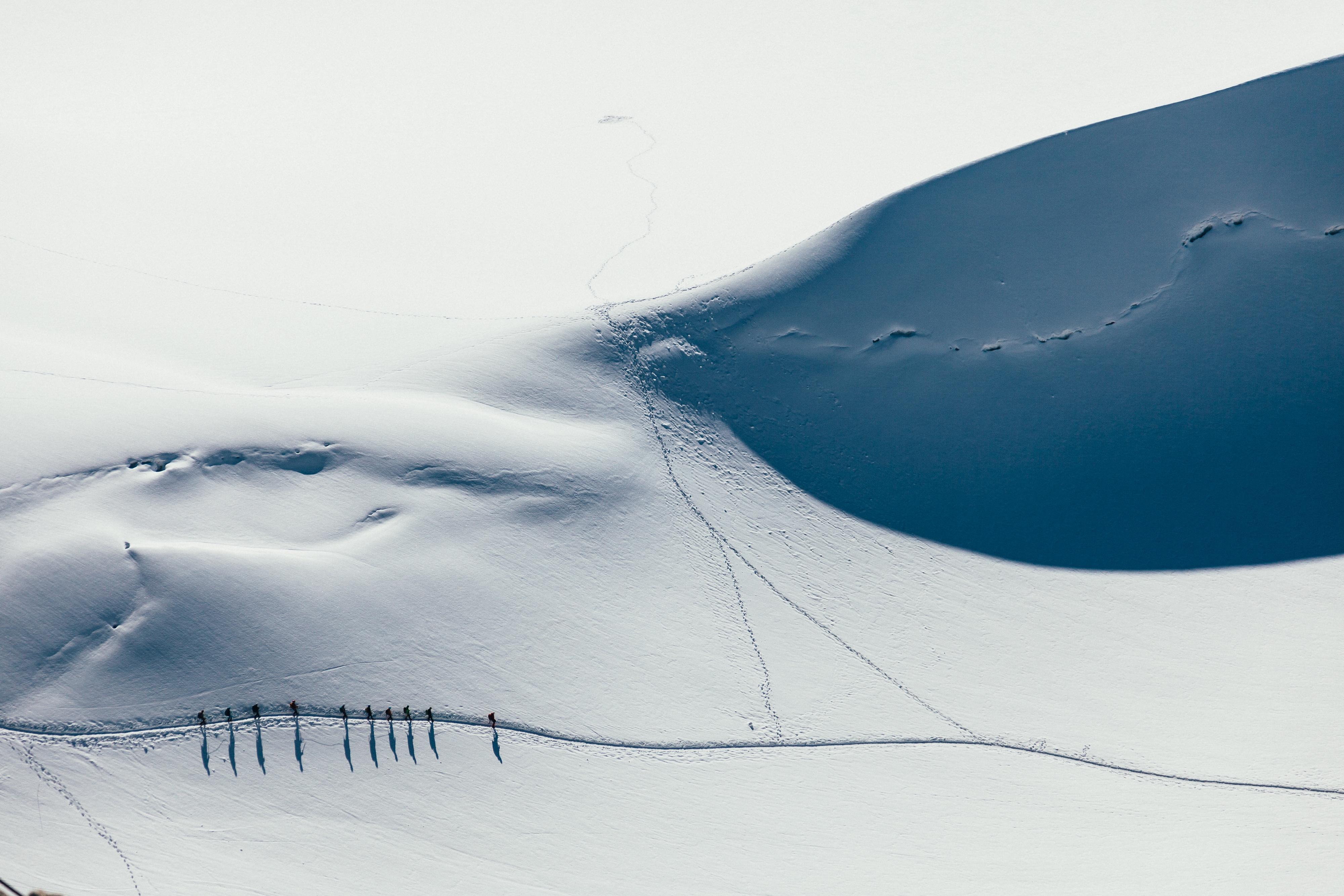 Giant White Mountain, Climb, Climber, Climbing, Cold, HQ Photo