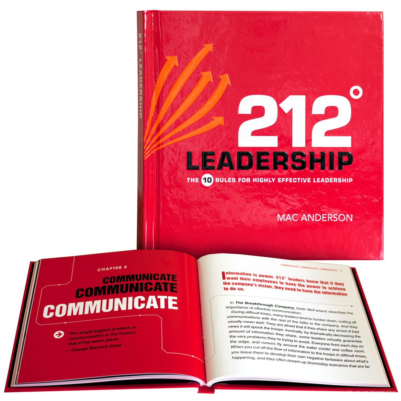 Inspirational Gift Books   212 Degrees Leadership Gift Book