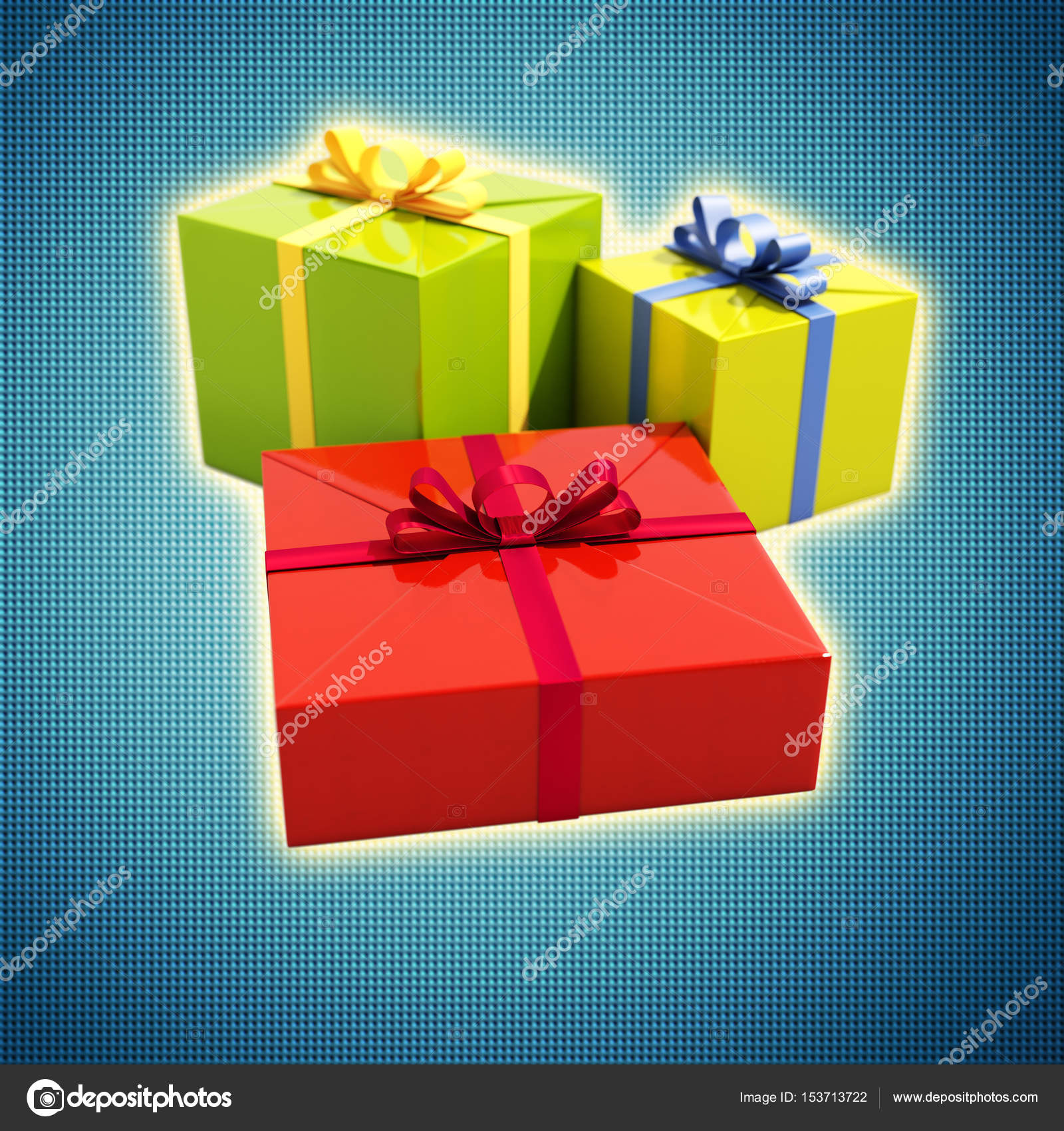 3 Gift Boxes Close Up — Stock Photo © Supertrooper #153713722