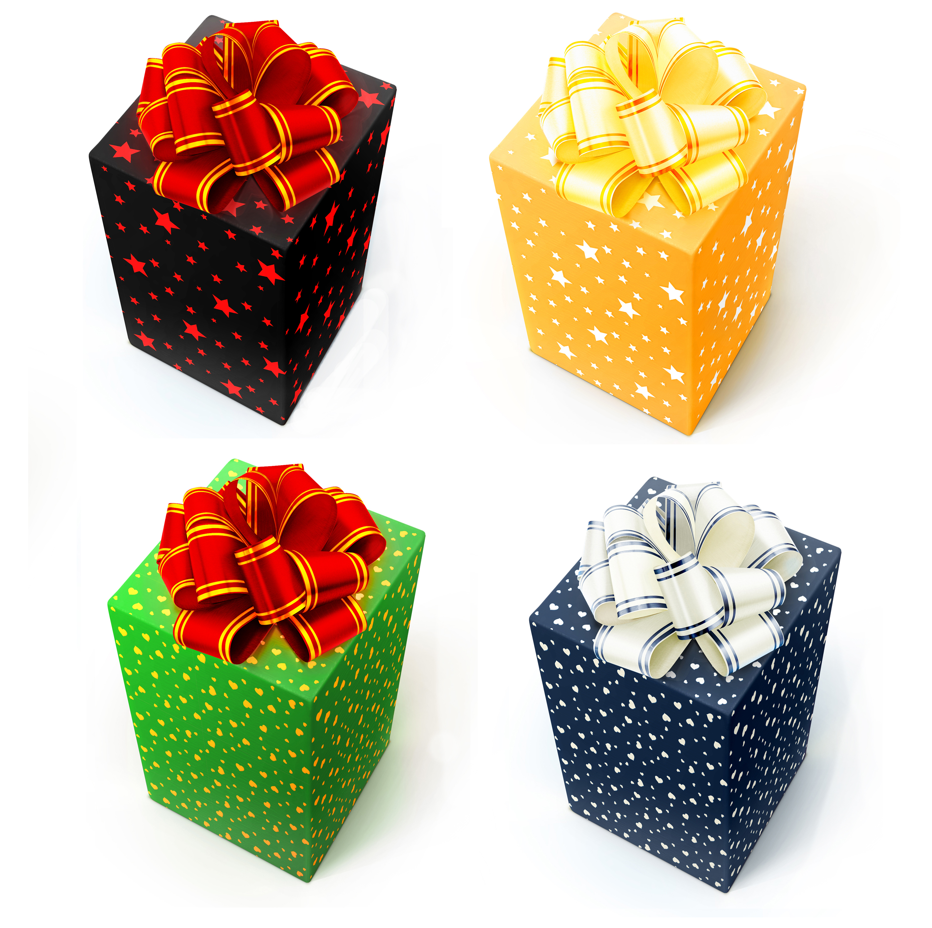 gift boxes with bows, Year, Ribbon, Image, Object, HQ Photo