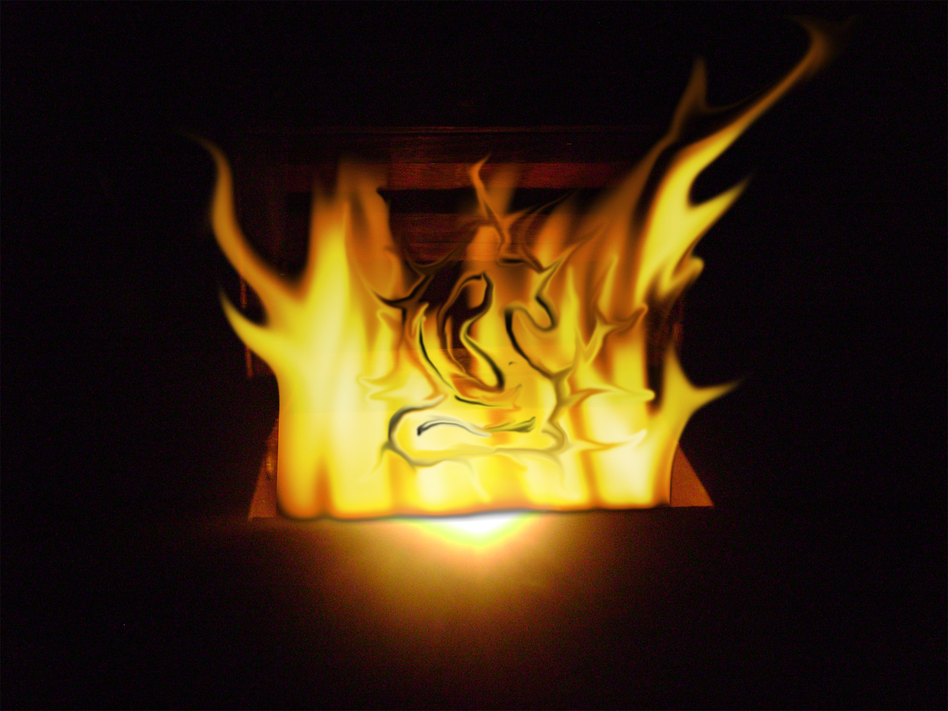 Gift of Fire, Abstract, Black, Fire, Flames, HQ Photo
