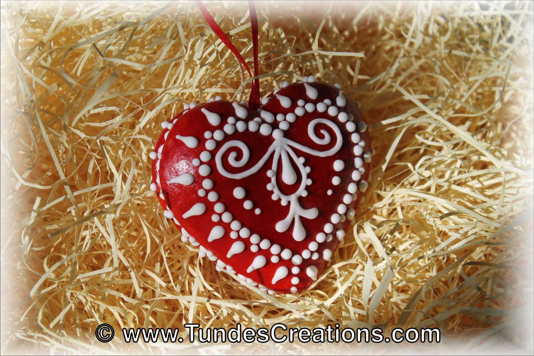 Gingerbread heart photo