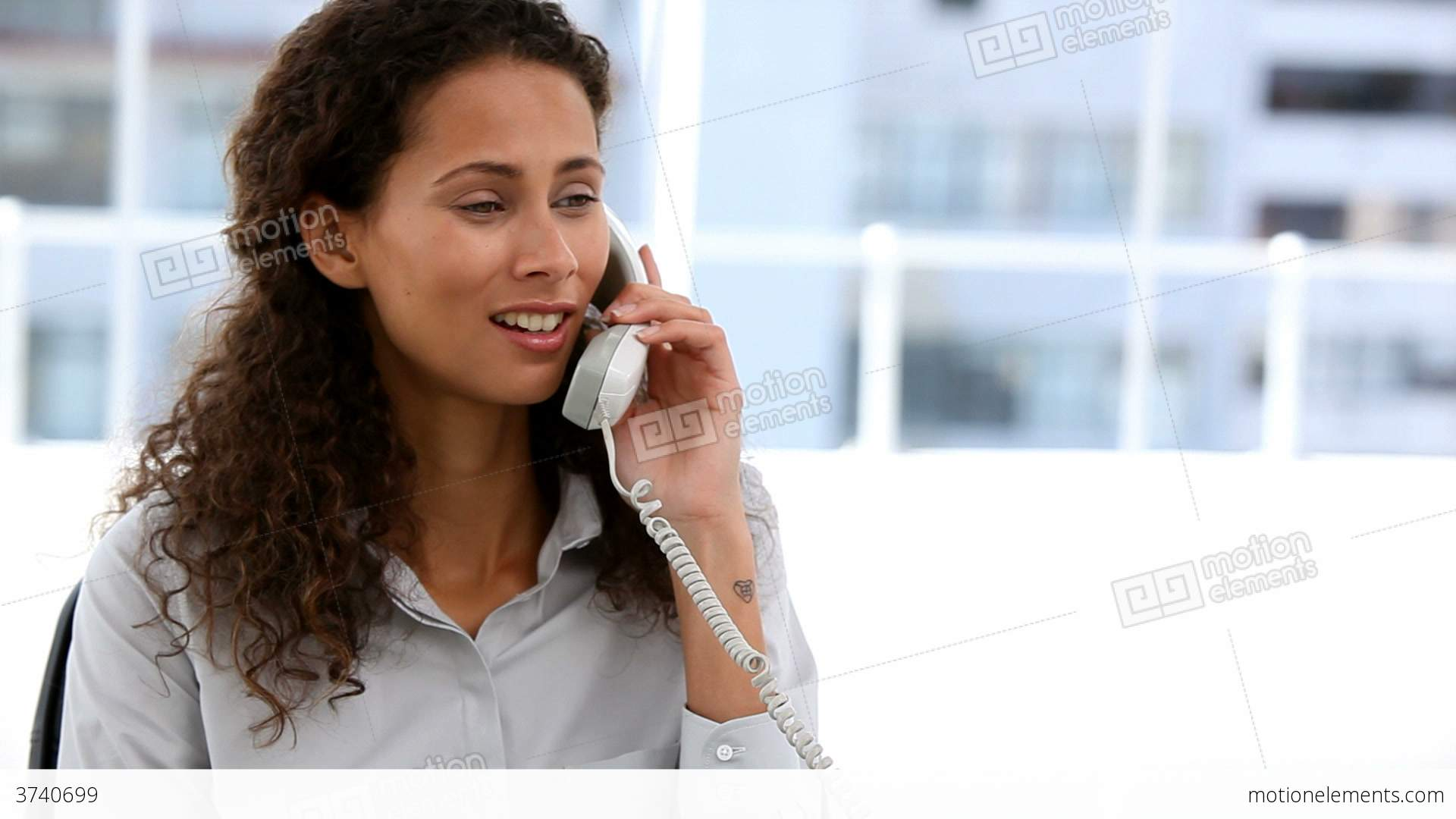 Business Woman Calling Someone On The Phone Stock video footage ...
