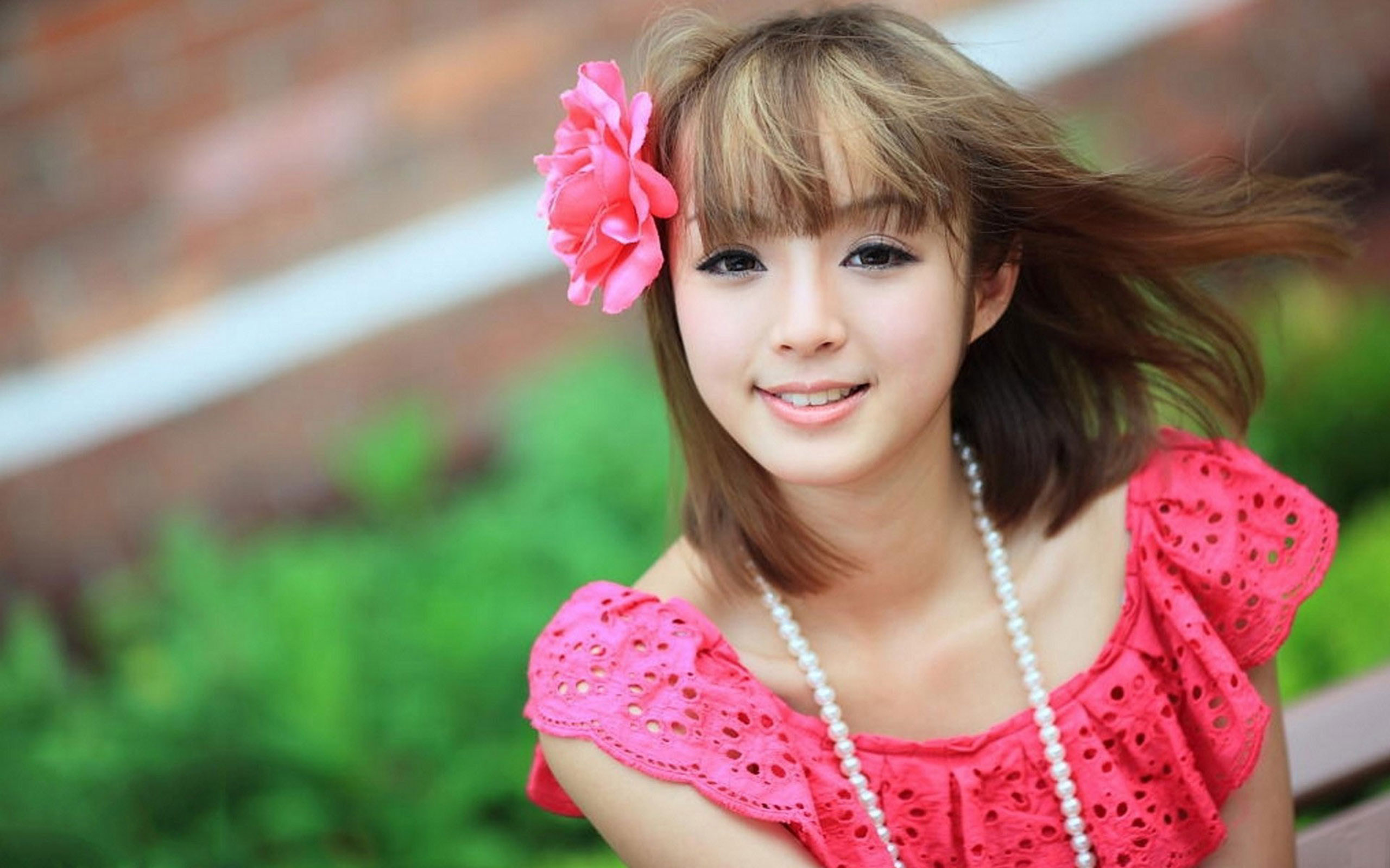 Cute Girl In Pink Dress #6940806