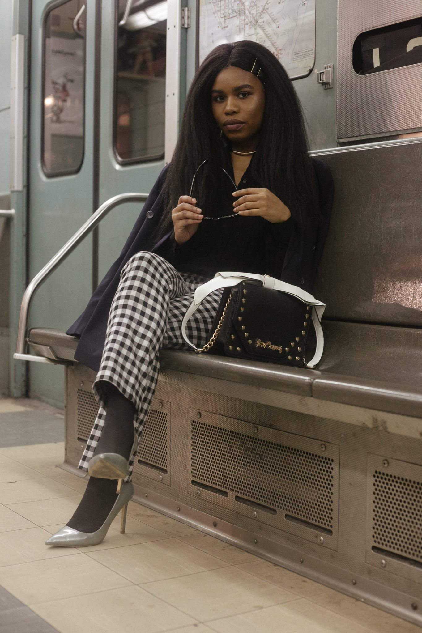 Girl in the subway photo