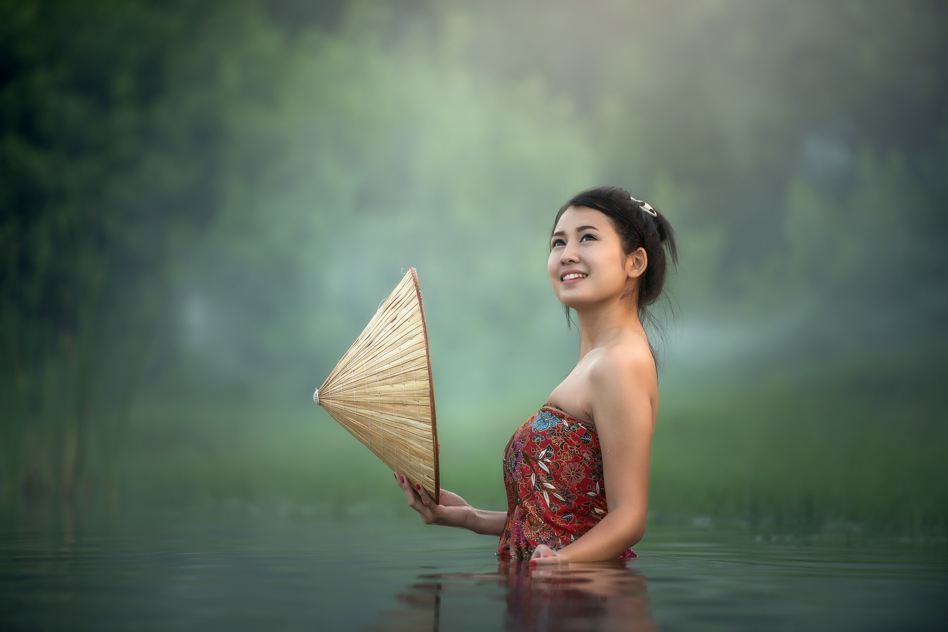 Girl in the water photo