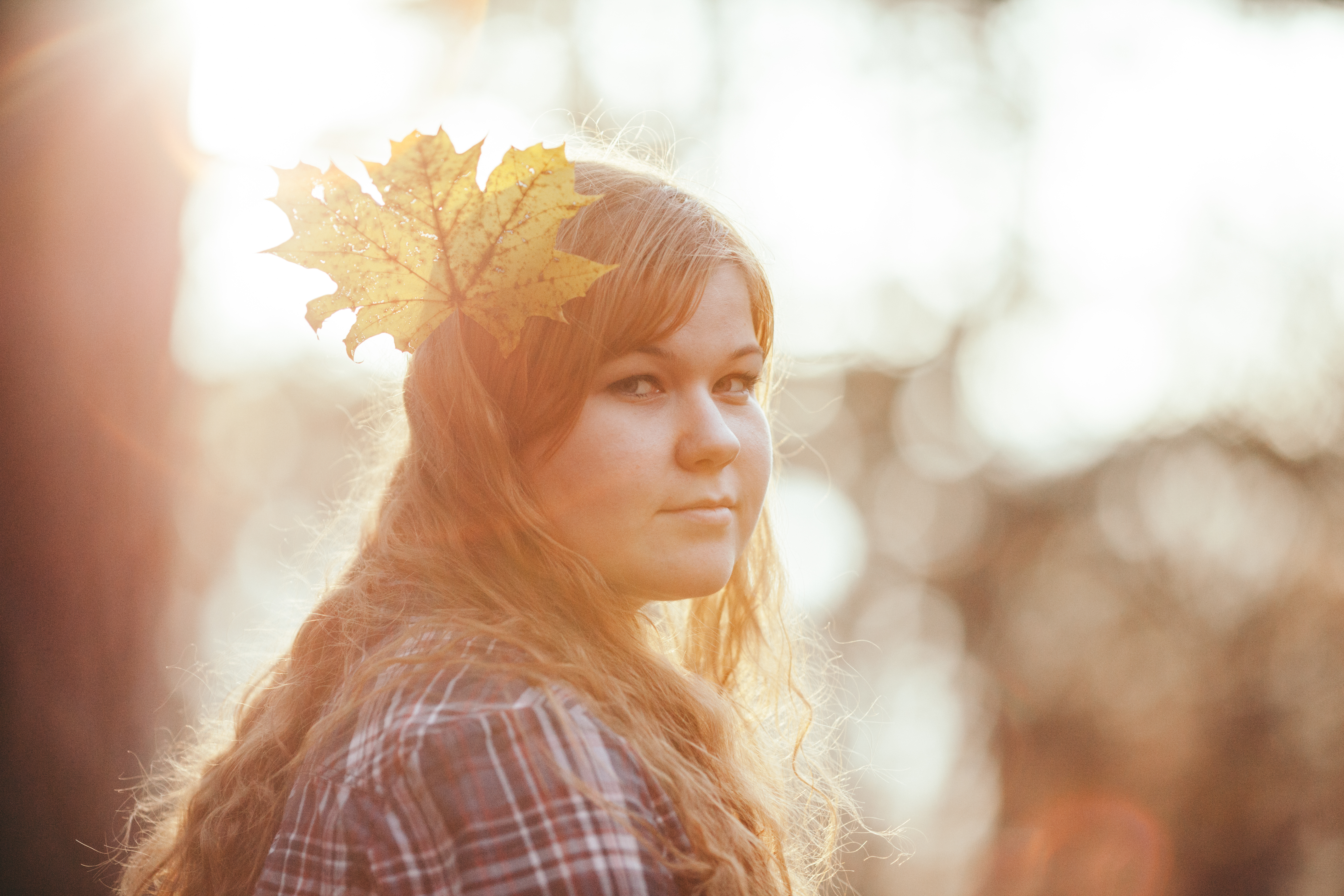 Girl in the woods photo