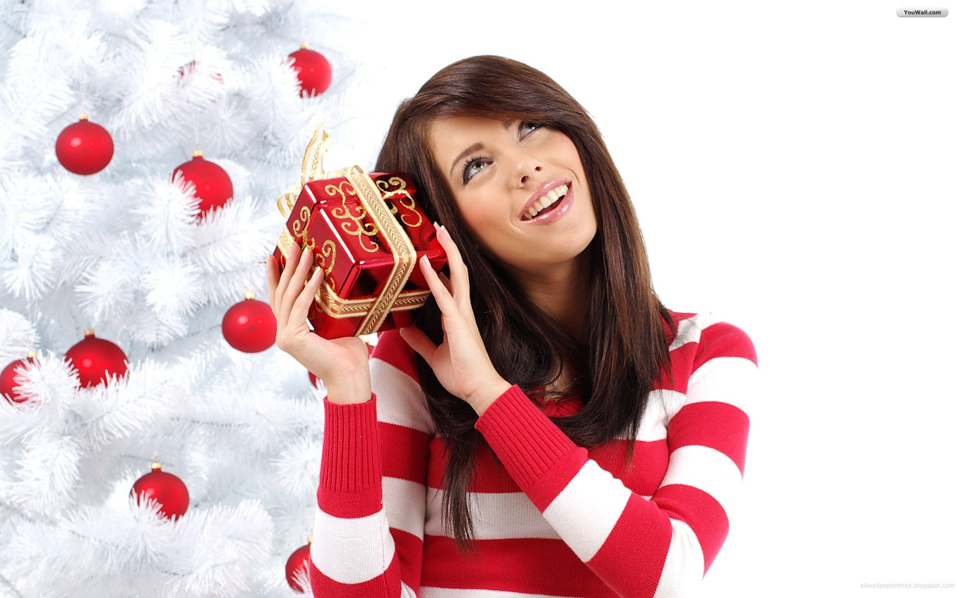 Christmas Girl Desktop Wallpaper 20780 - Baltana