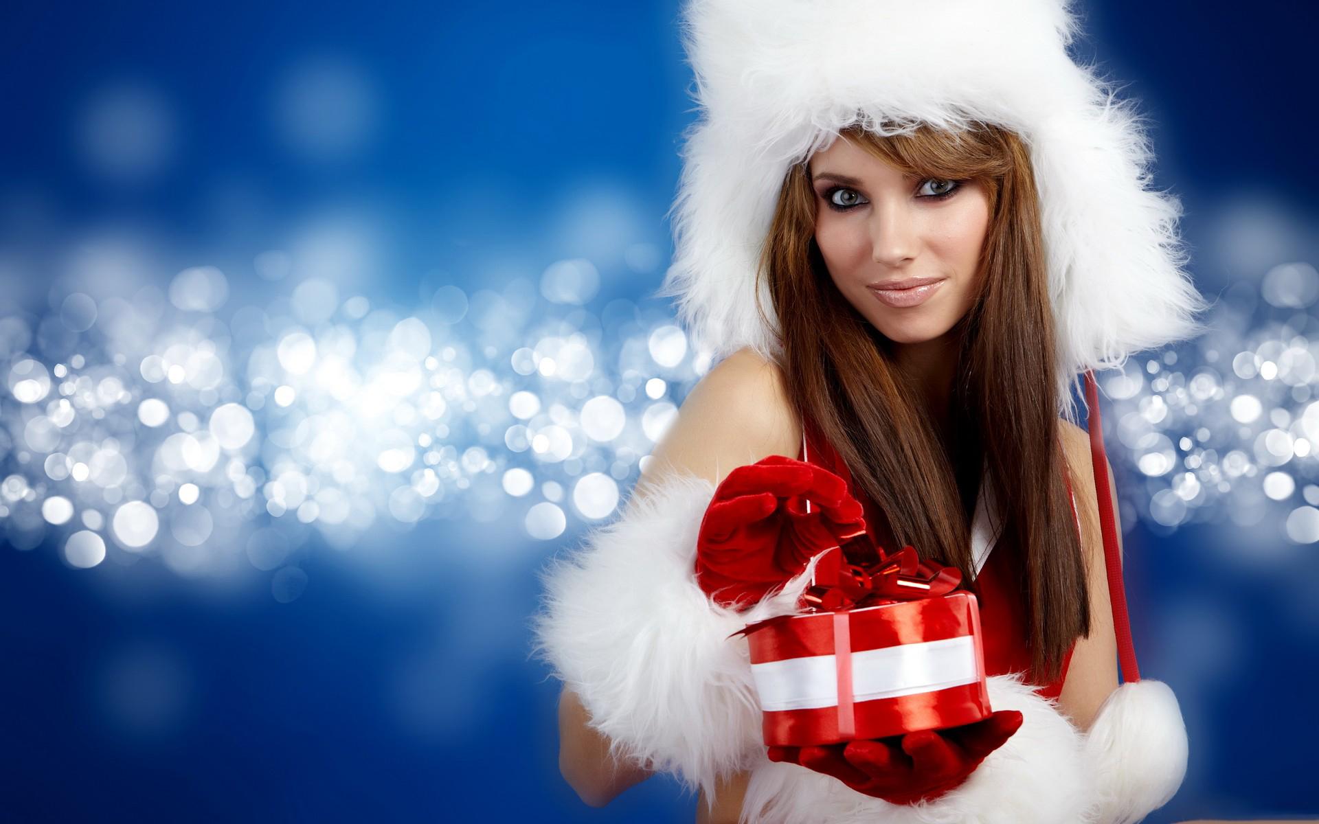 Christmas Girl High Definition Wallpaper 20784 - Baltana