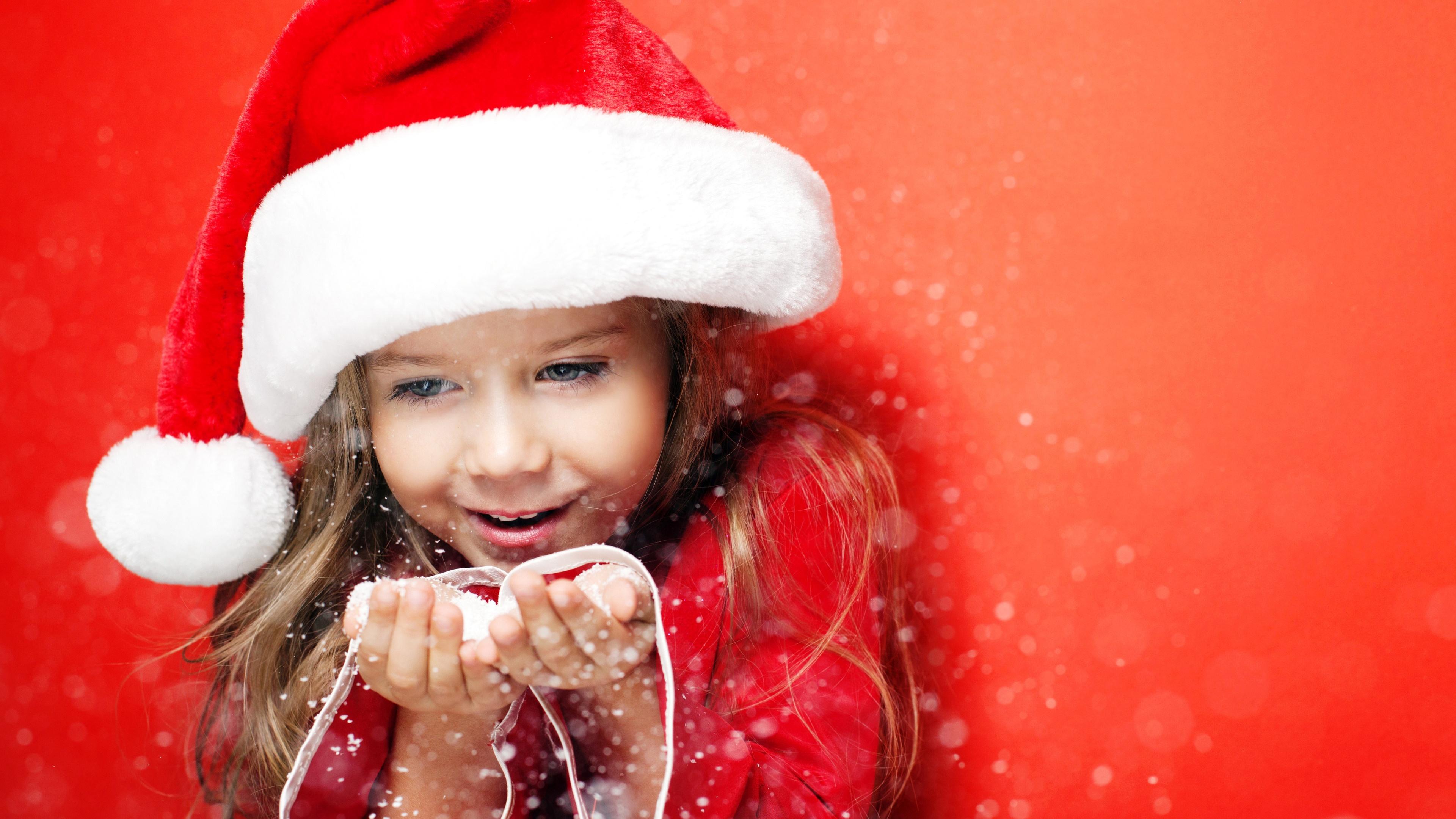 Little Santa Girl Christmas wallpaper | cute | Wallpaper Better