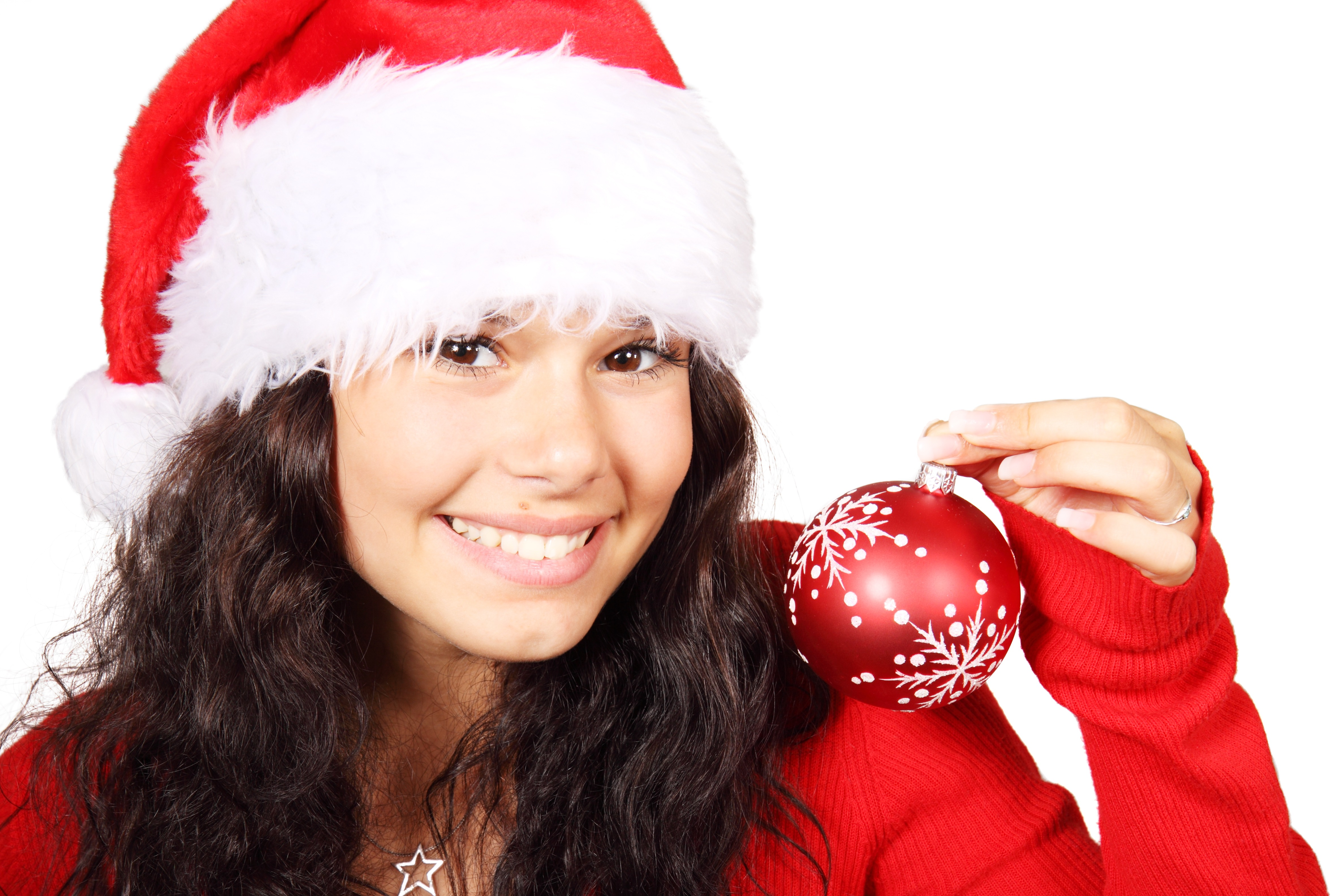 Girl on Christmas, Activity, Bauble, Celebrate, Christmas, HQ Photo