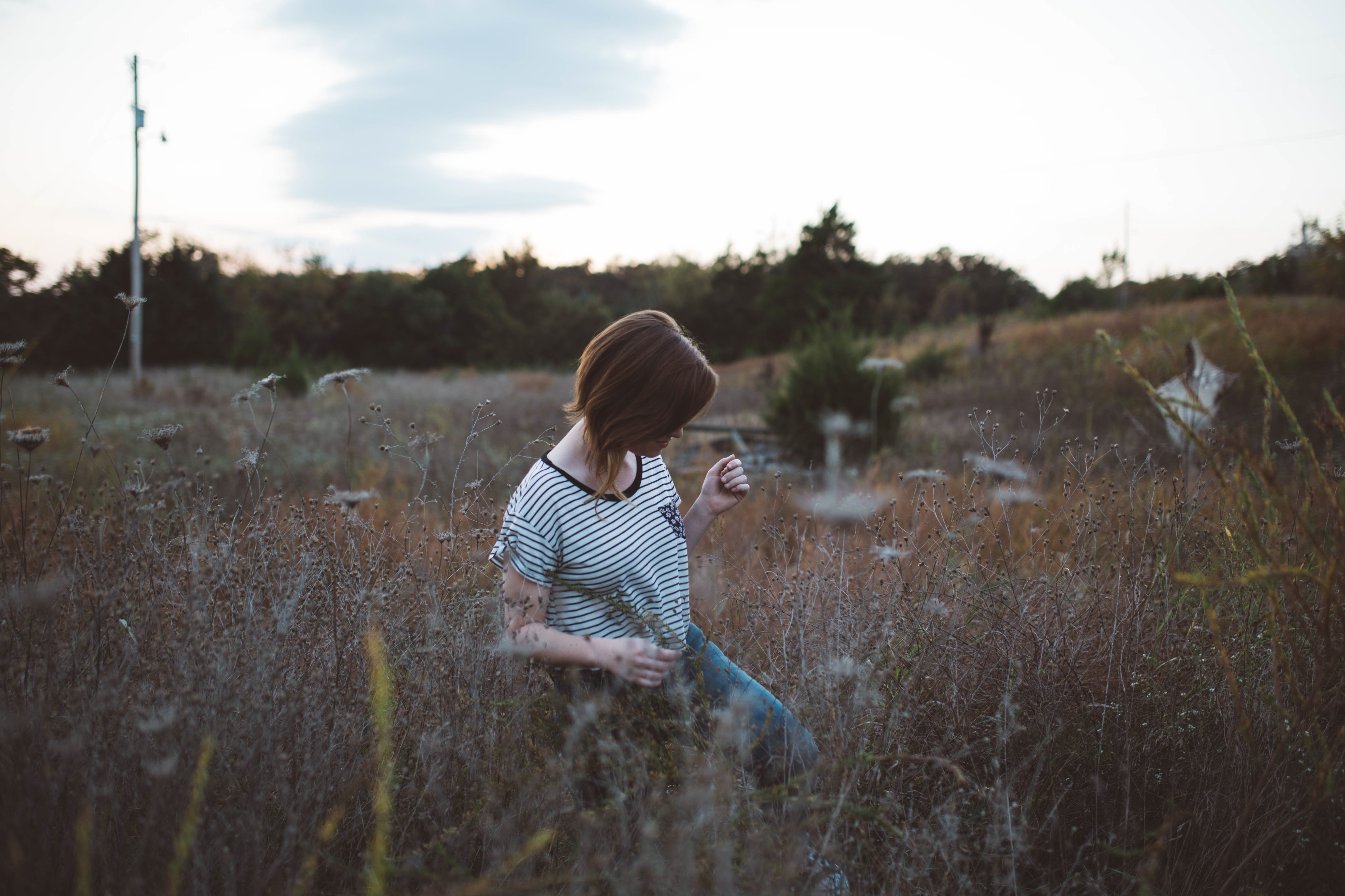 Girl walking photo