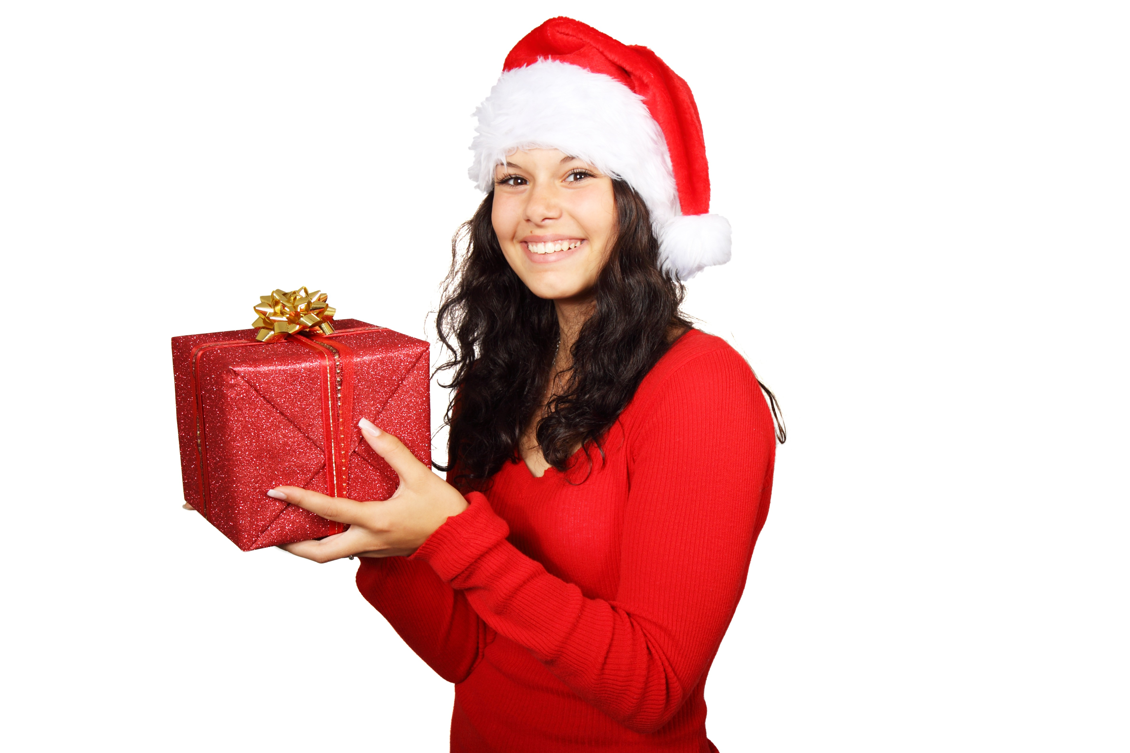 Girl with a Box, Activity, Celebrate, Celebration, Christmas, HQ Photo