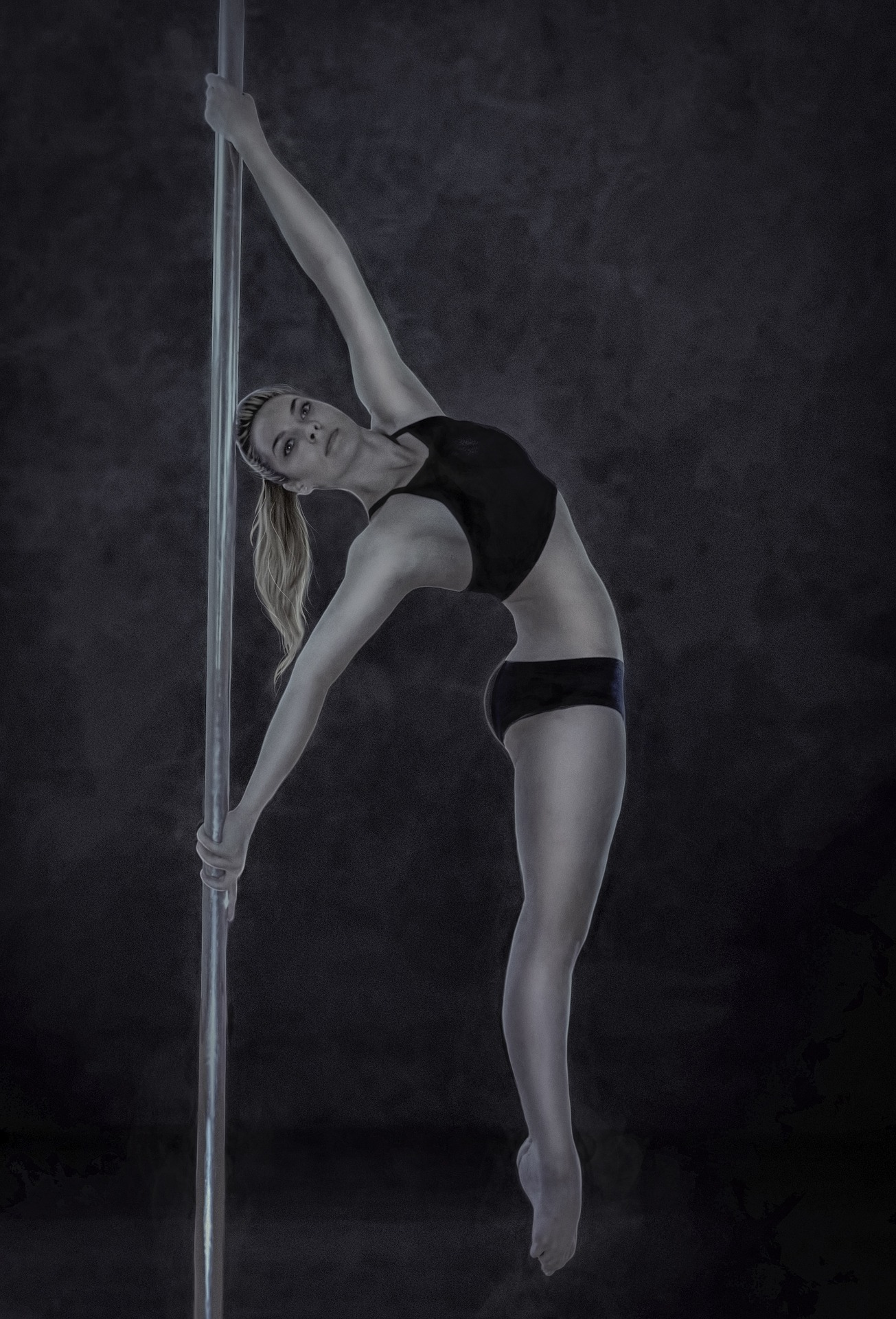 Girl with the pole photo