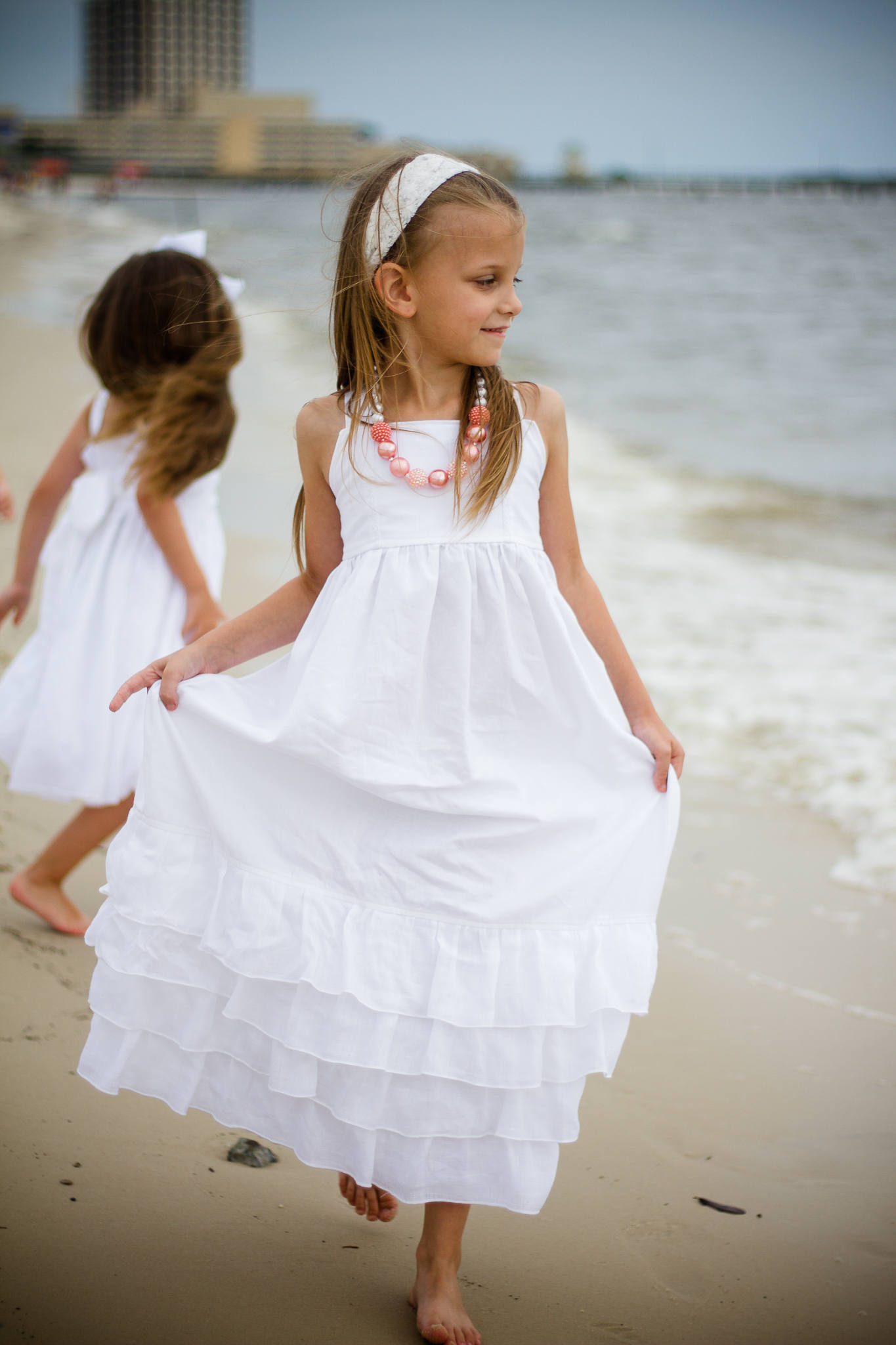 Girls White Beach Dress - White Maxi Dress - White Cotton Maxi Dress ...