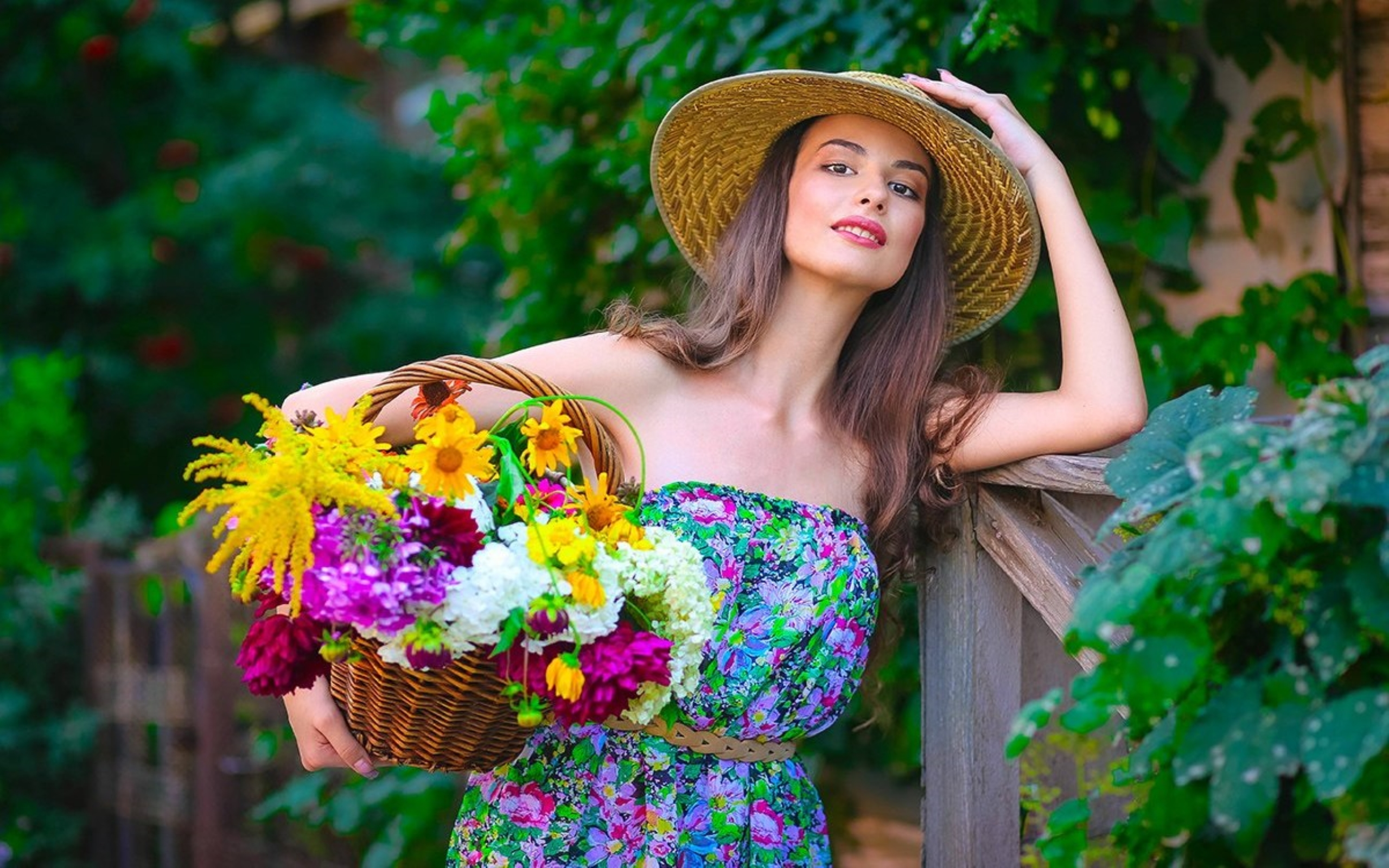 Free Photo Girl With Flowers - Human, Lady, Pose - Free -4147