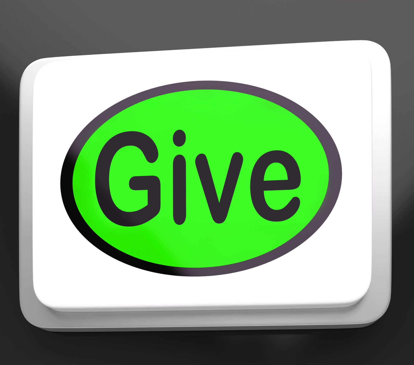Give button means bestowed allot or grant photo