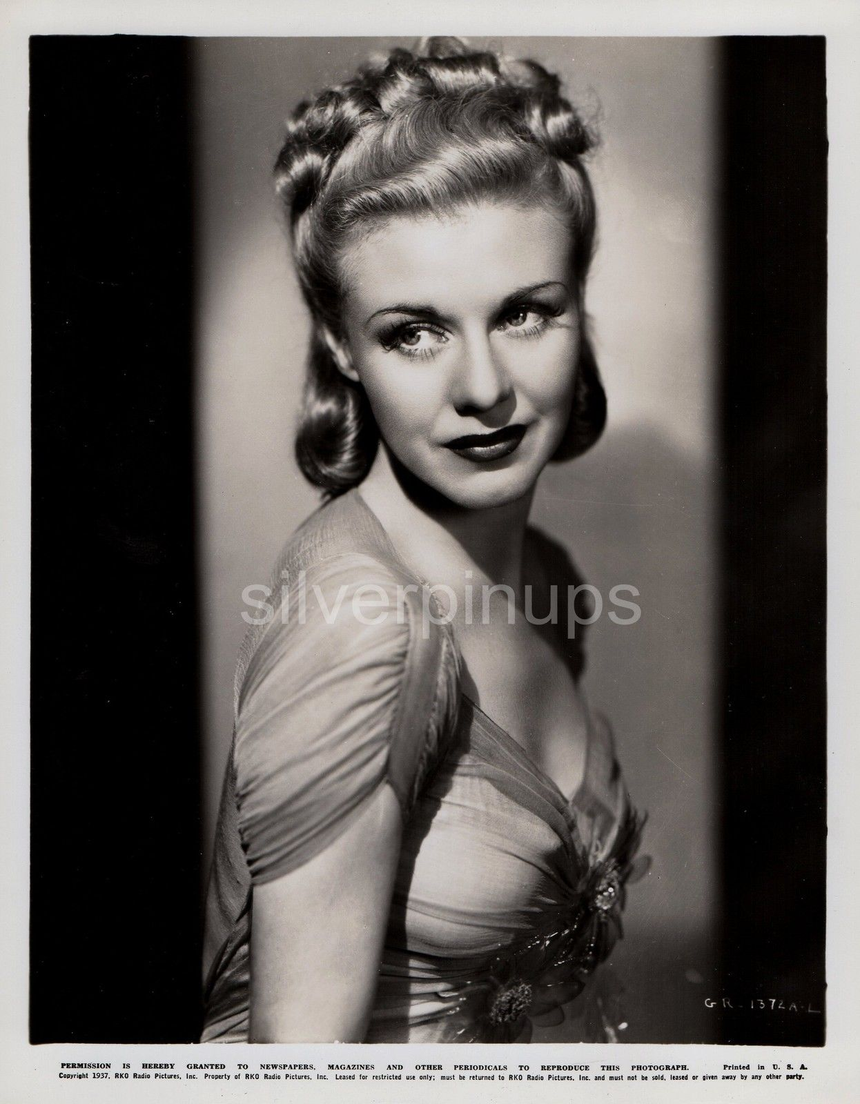 Orig 1937 GINGER ROGERS Simply Exquisite.. R.K.O GLAMOUR Portrait ...