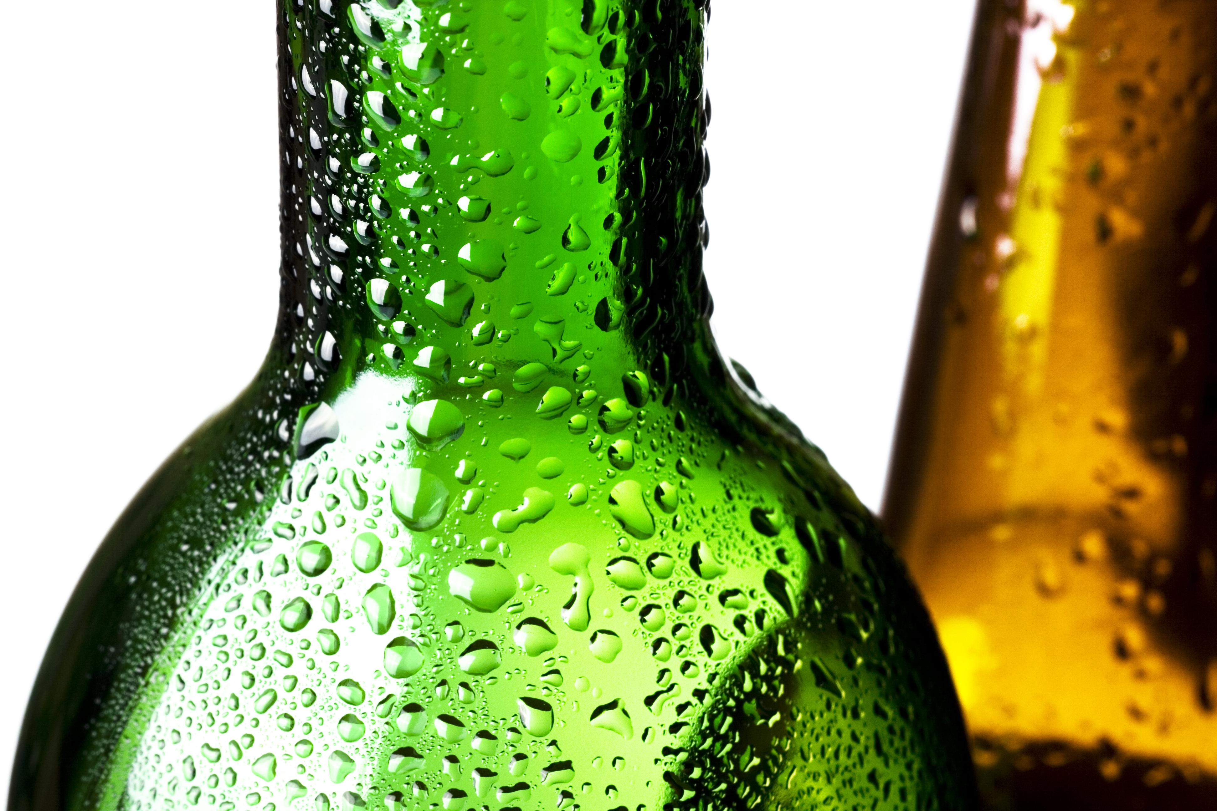 Glass bottles, Aqua, Pure, Healthy, Isolated, HQ Photo