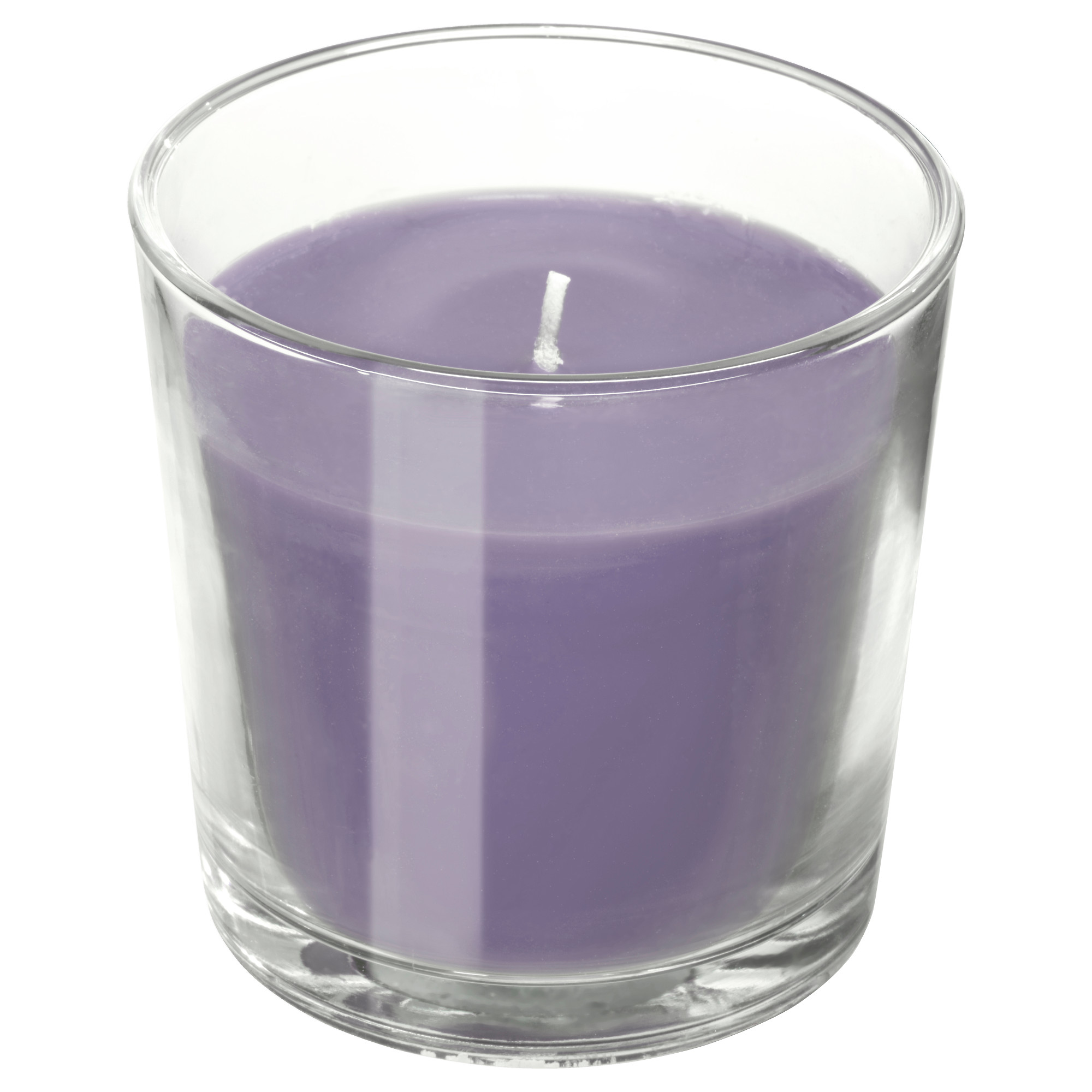 SINNLIG scented candle in glass, λιλά, Scented candles   IKEA Κύπρος