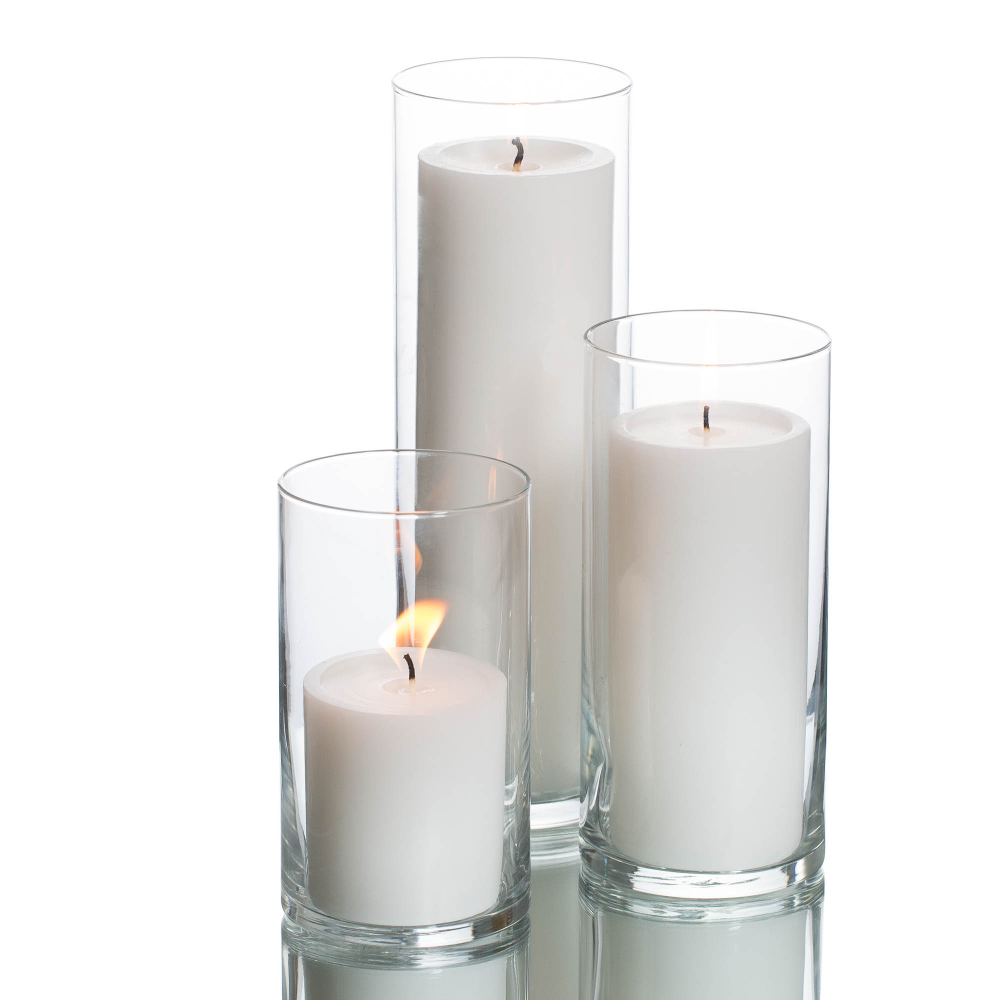Eastland Cylinders & Richland Pillar Candles Set of 36   Quick Candles