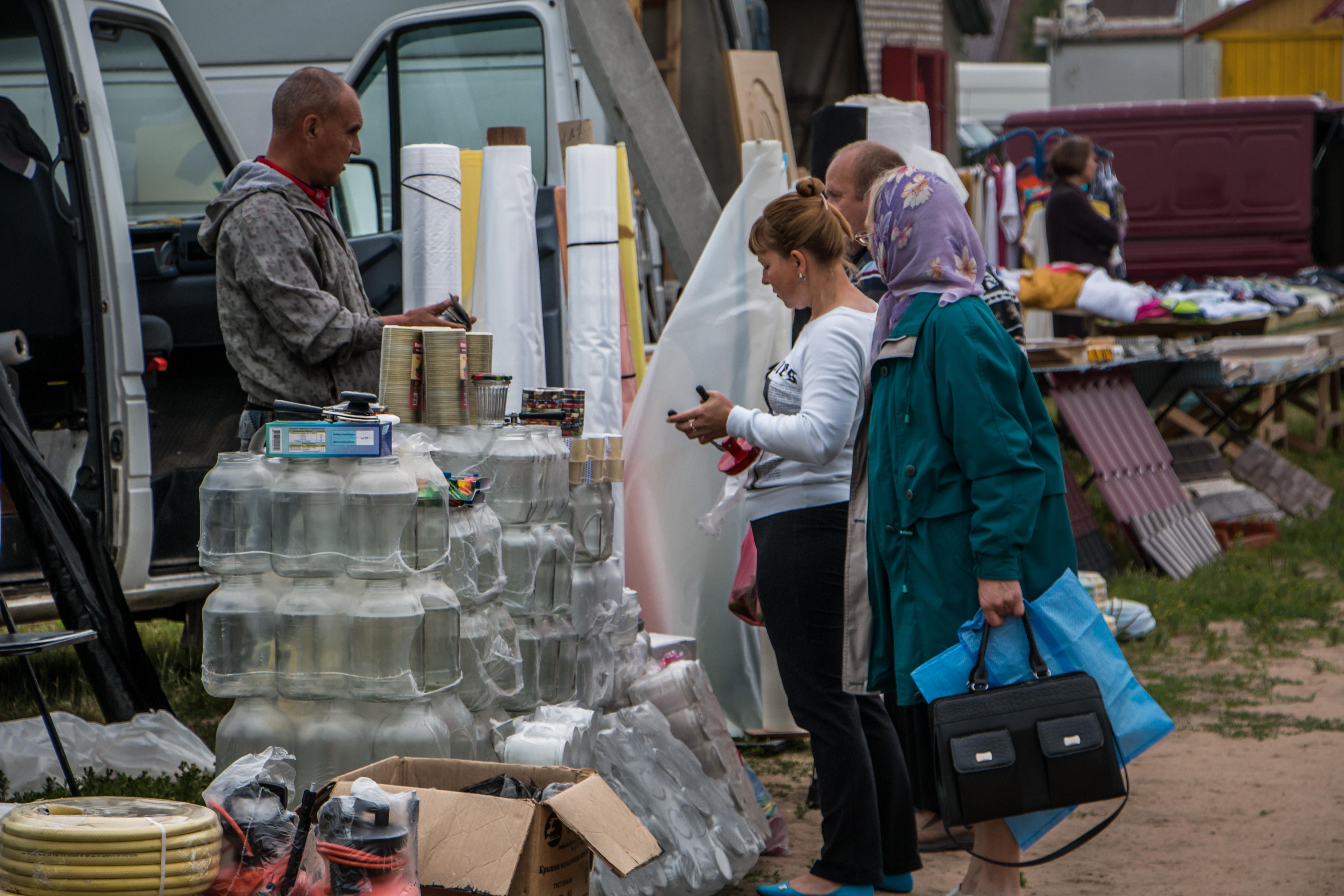 Glass jars stand, Business, Glass, Goods, Jars, HQ Photo