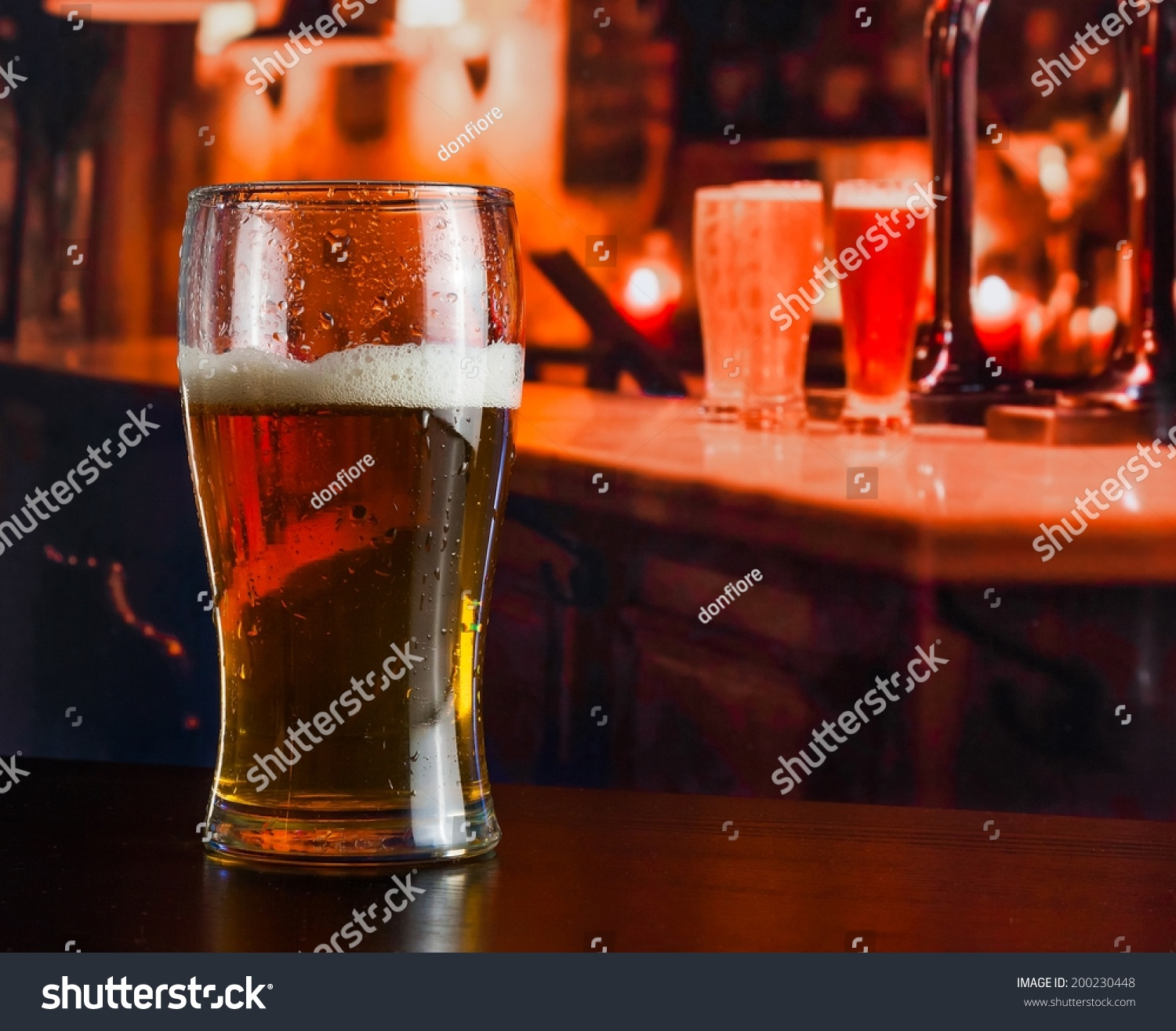 Glass Fresh Beer On Wood Table Stock Photo 200230448 - Shutterstock