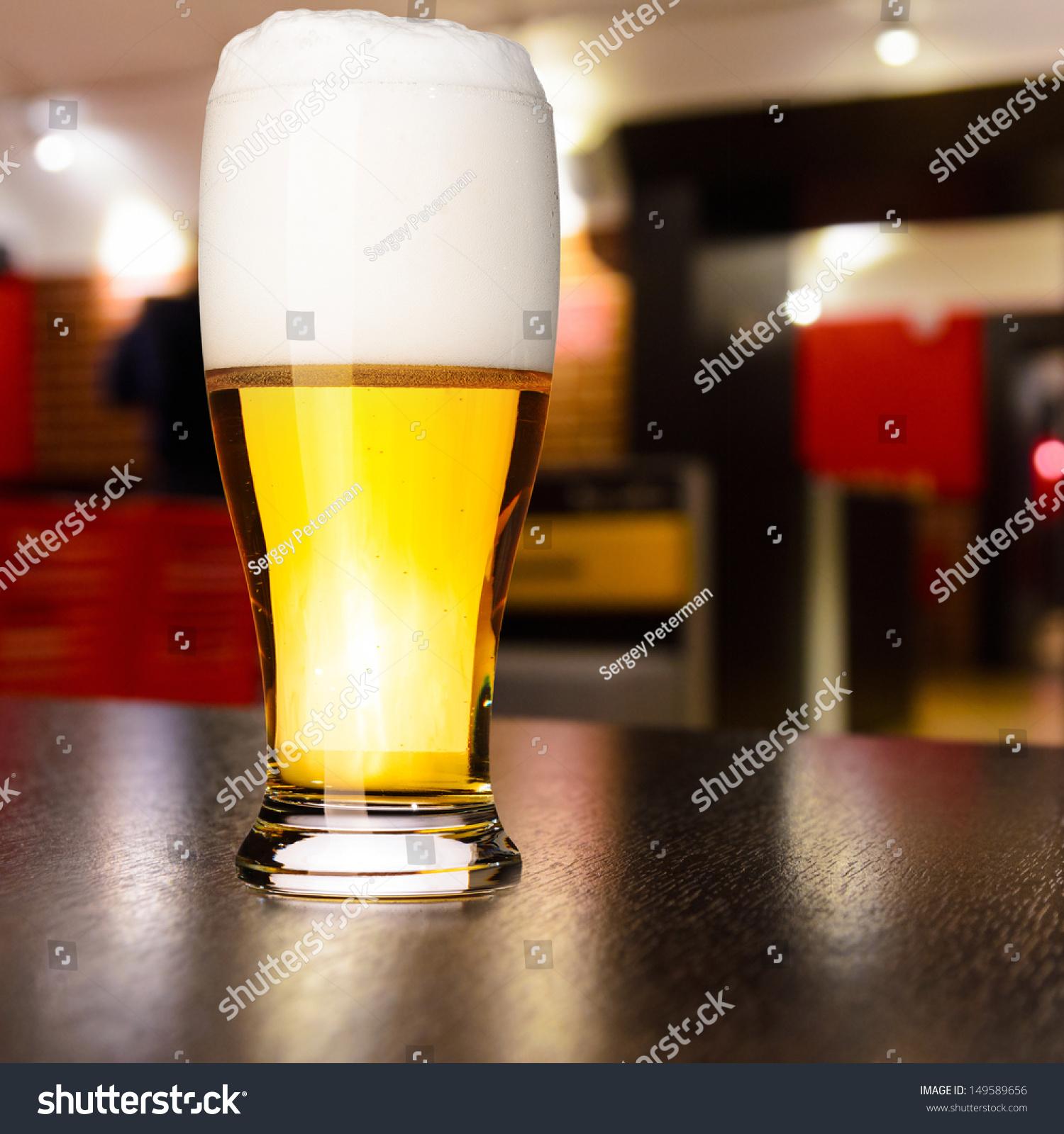 Glass Fresh Draft Lager Beer On Stock Photo 149589656 - Shutterstock