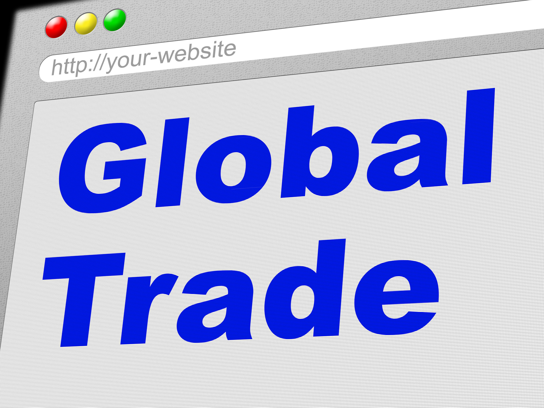 Global trade shows commerce globalize and e-commerce photo