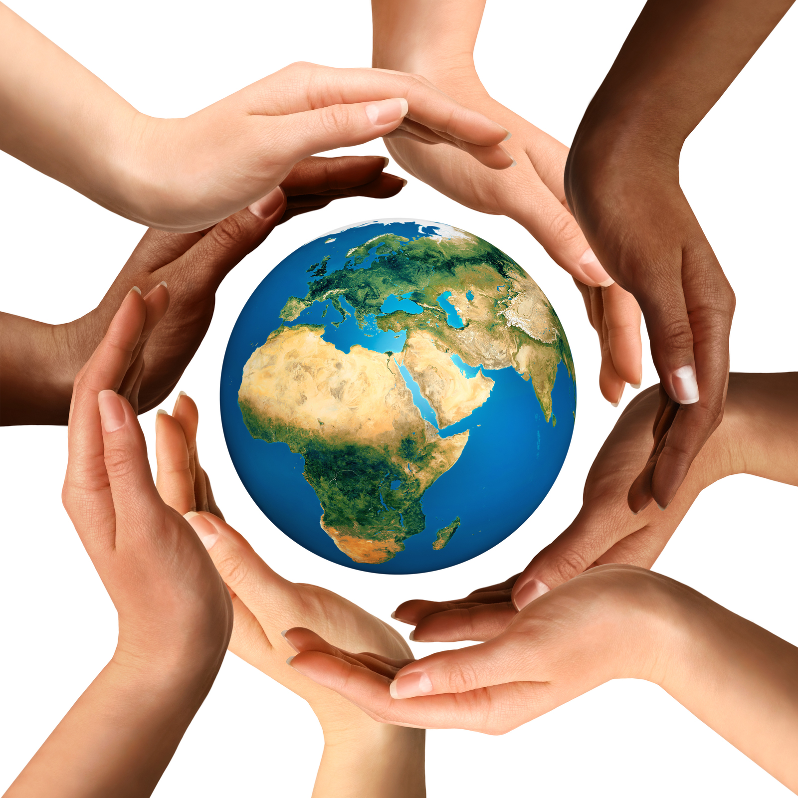 Hands and globe clipart - Clipart Collection | Group of people ...