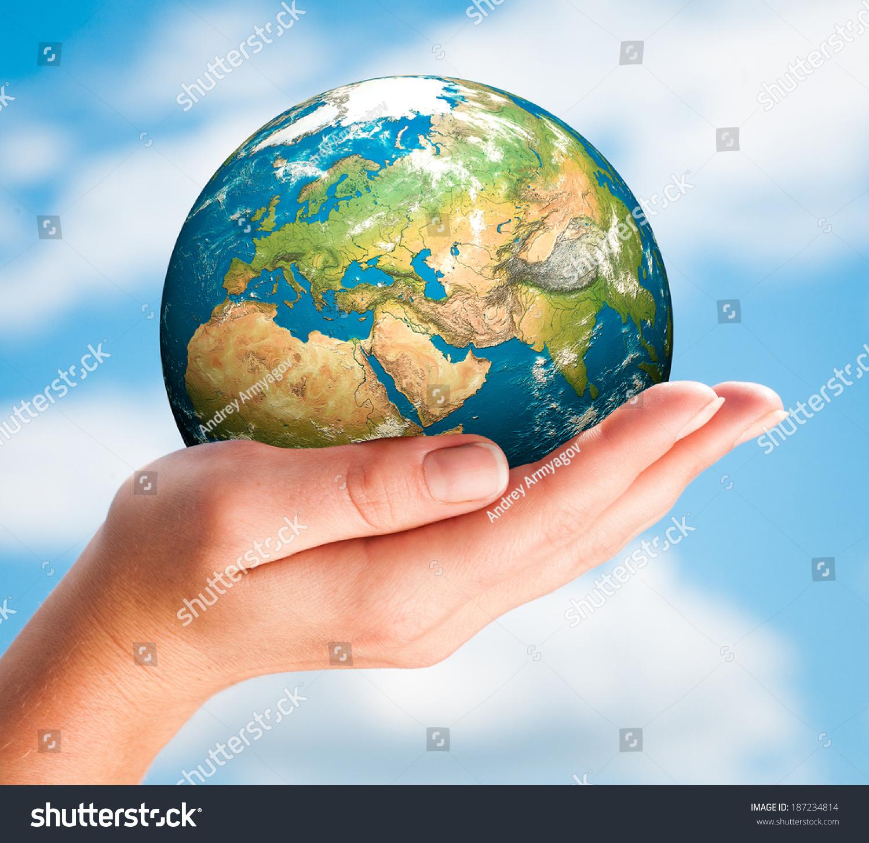 Human Hand Holding Globe Stock Photo (Edit Now)- Shutterstock