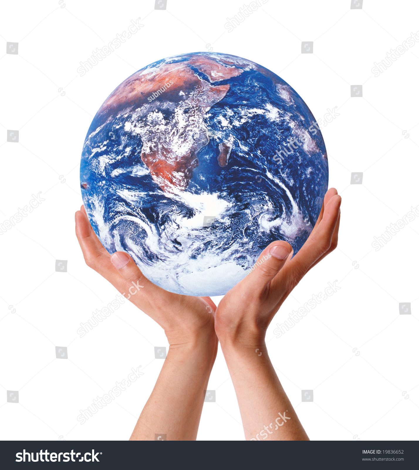 Both Hands Embracing Holding Earth Globe Stock Photo & Image ...