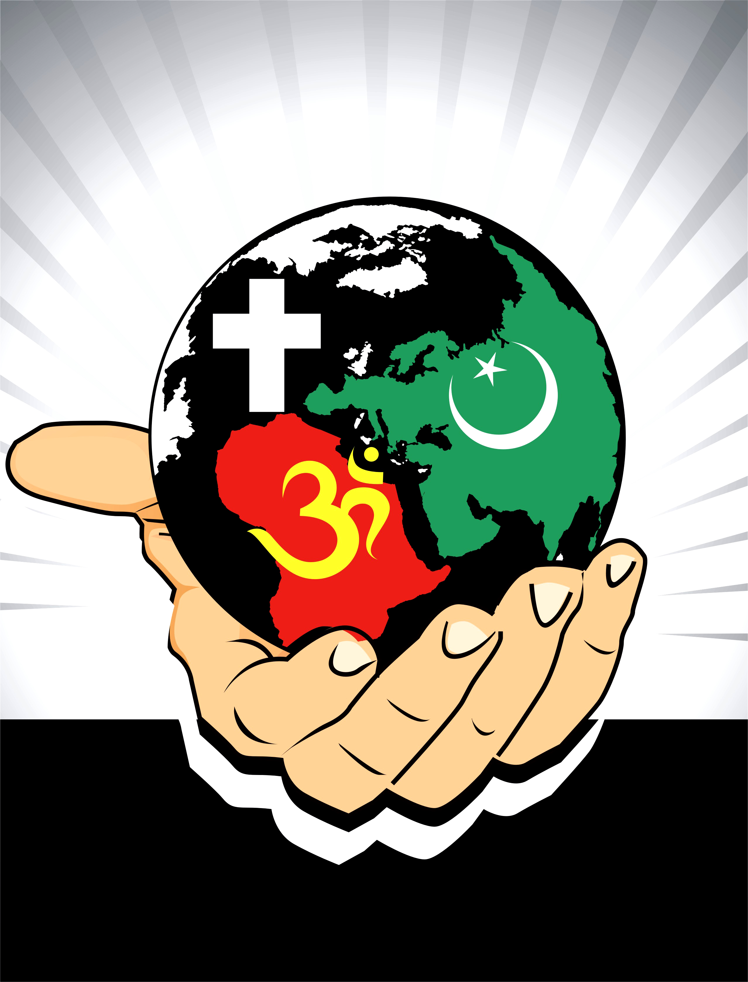 Globe holding hand, 2d, Abstract, Vector, Spirituality, HQ Photo