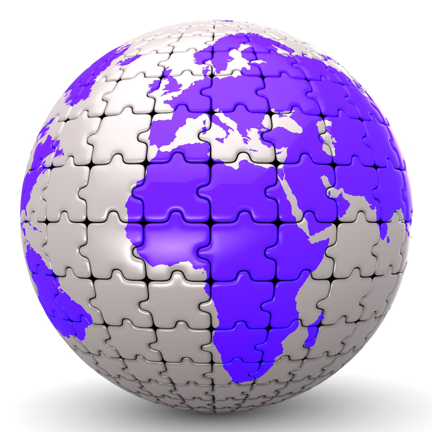 Globe World Means Jigsaw Puzzle And Global, Assemble, Worldly, World, Puzzle, HQ Photo