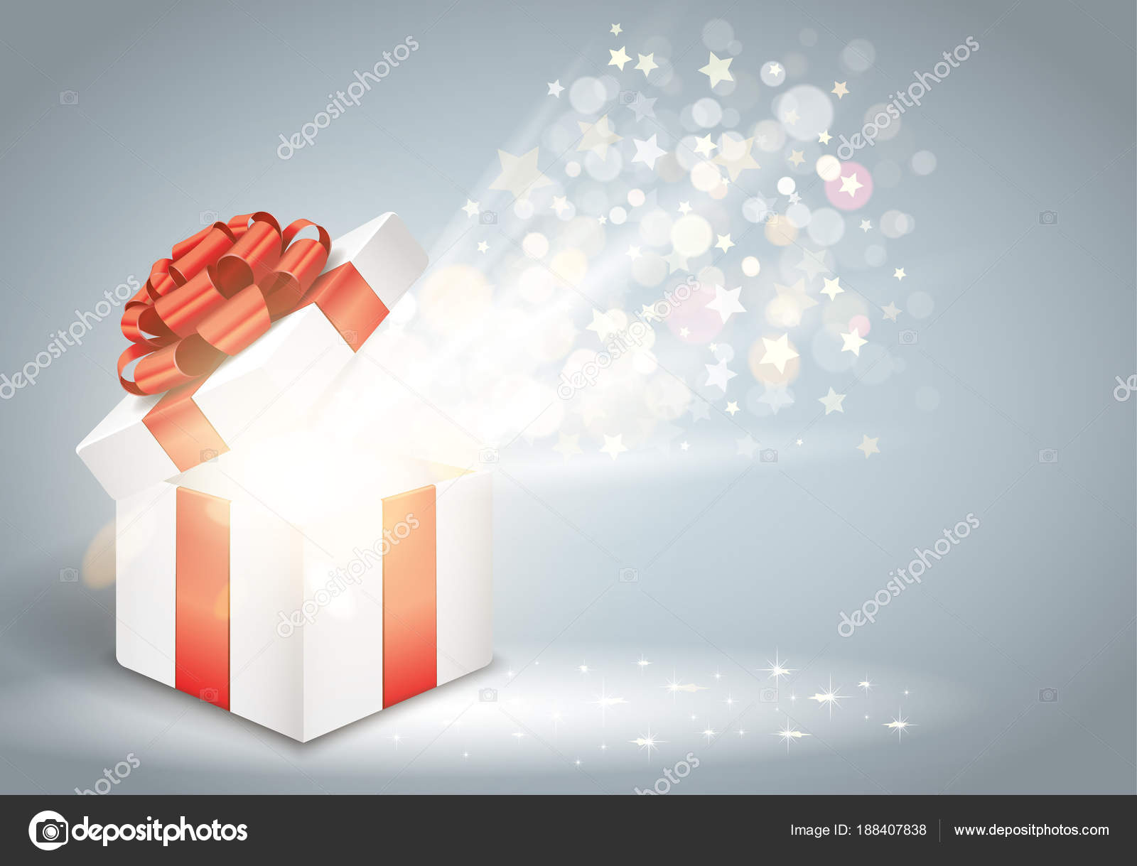 Glowing gift box photo