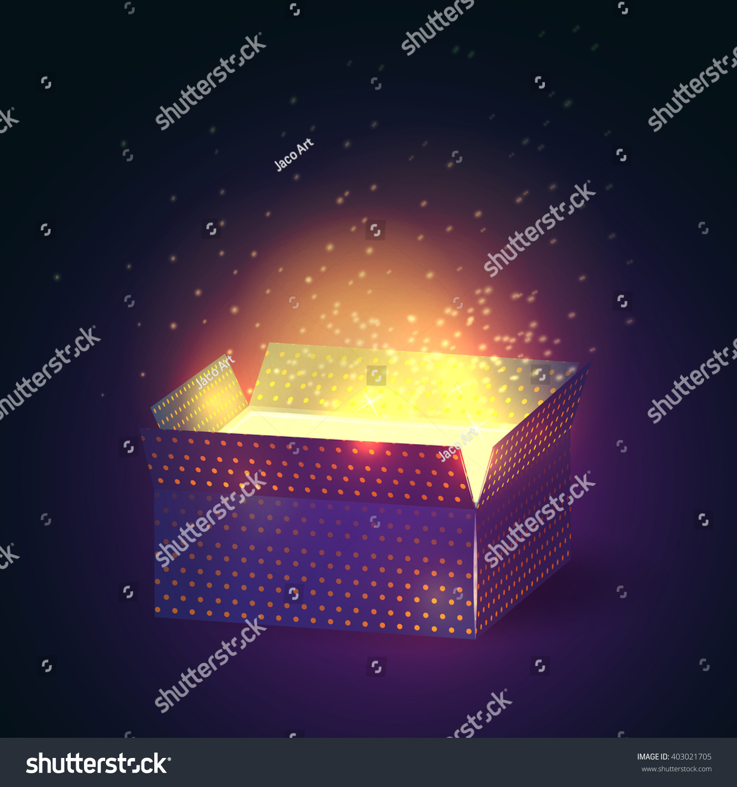 Open Gift Box Bright Rays Light Stock Vector 403021705 - Shutterstock