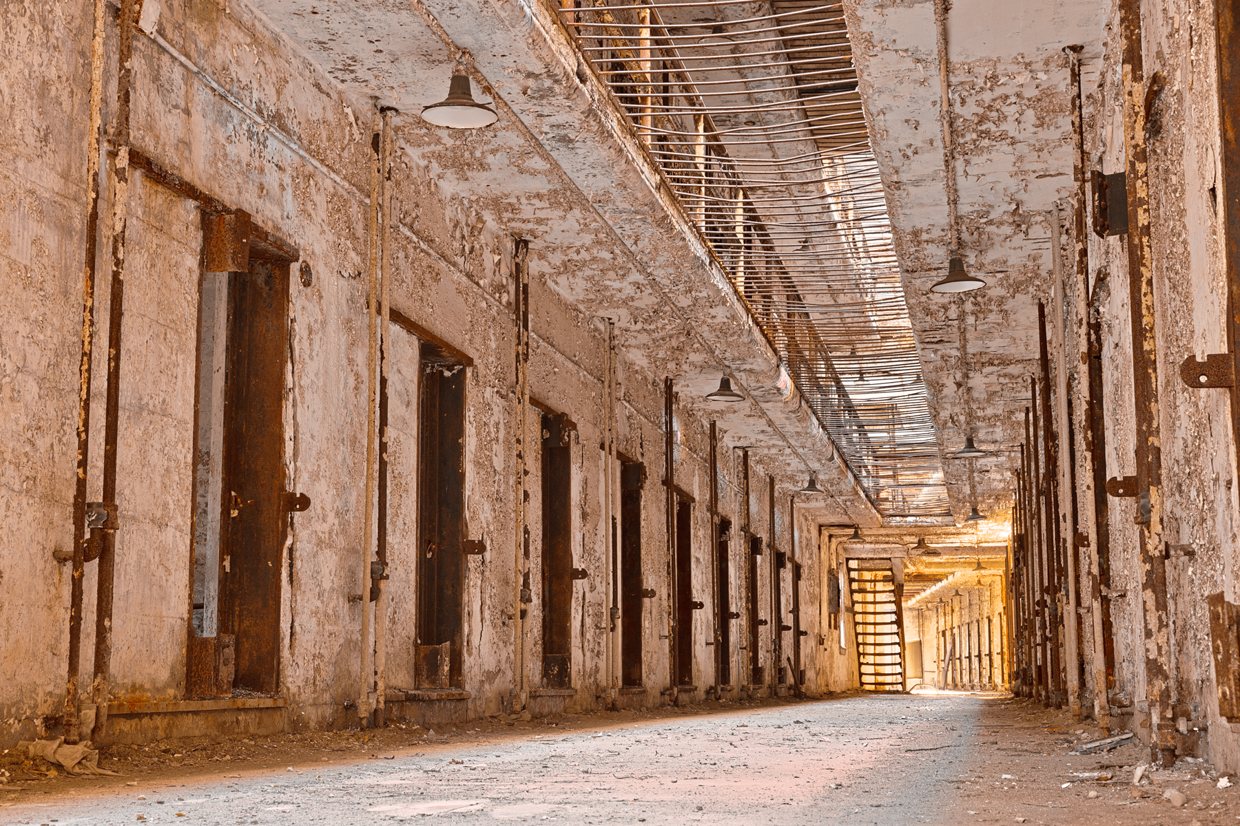Glowing prison corridor - hdr photo
