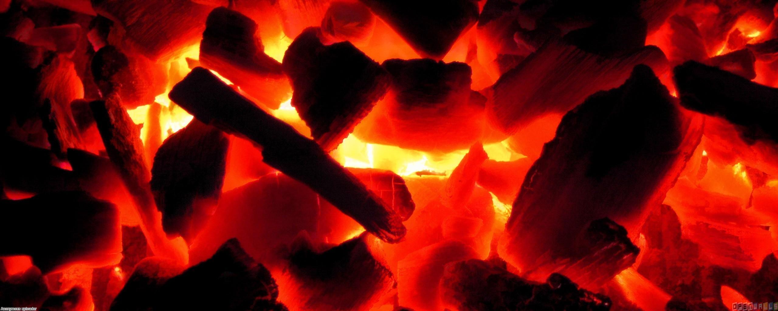 Hot glowing coals wallpaper #7882 - Open Walls