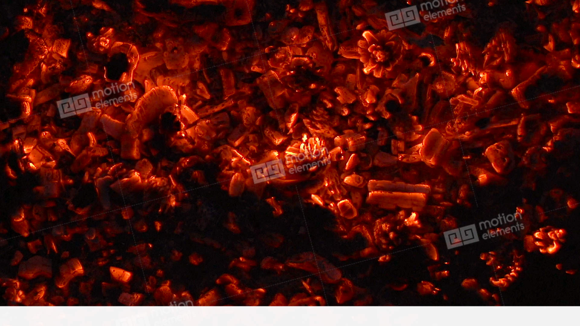 Hot Glowing Coals Flaming Hot Stock video footage | 10970476