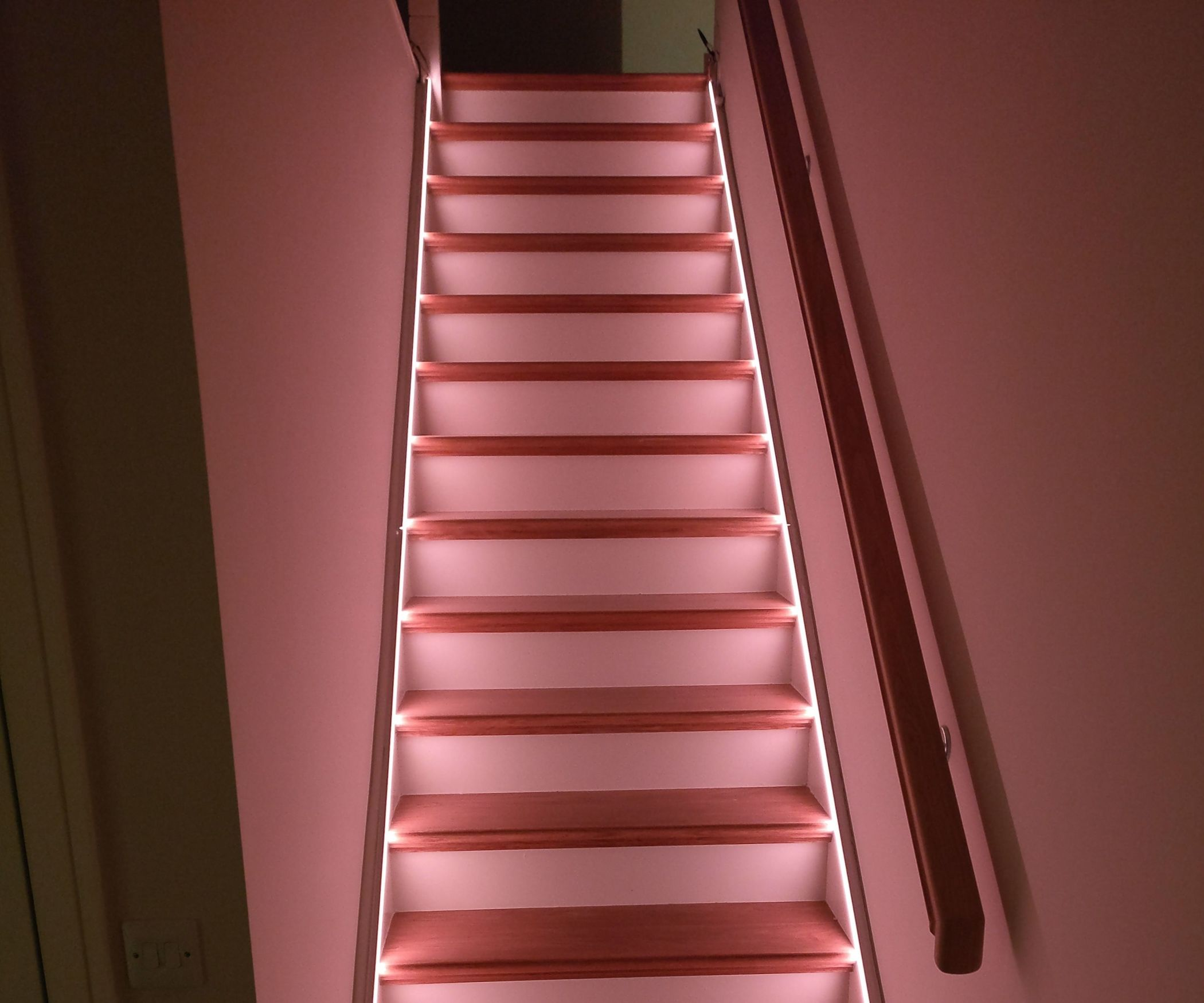 Automatic IoT Staircase Glowing Lighting
