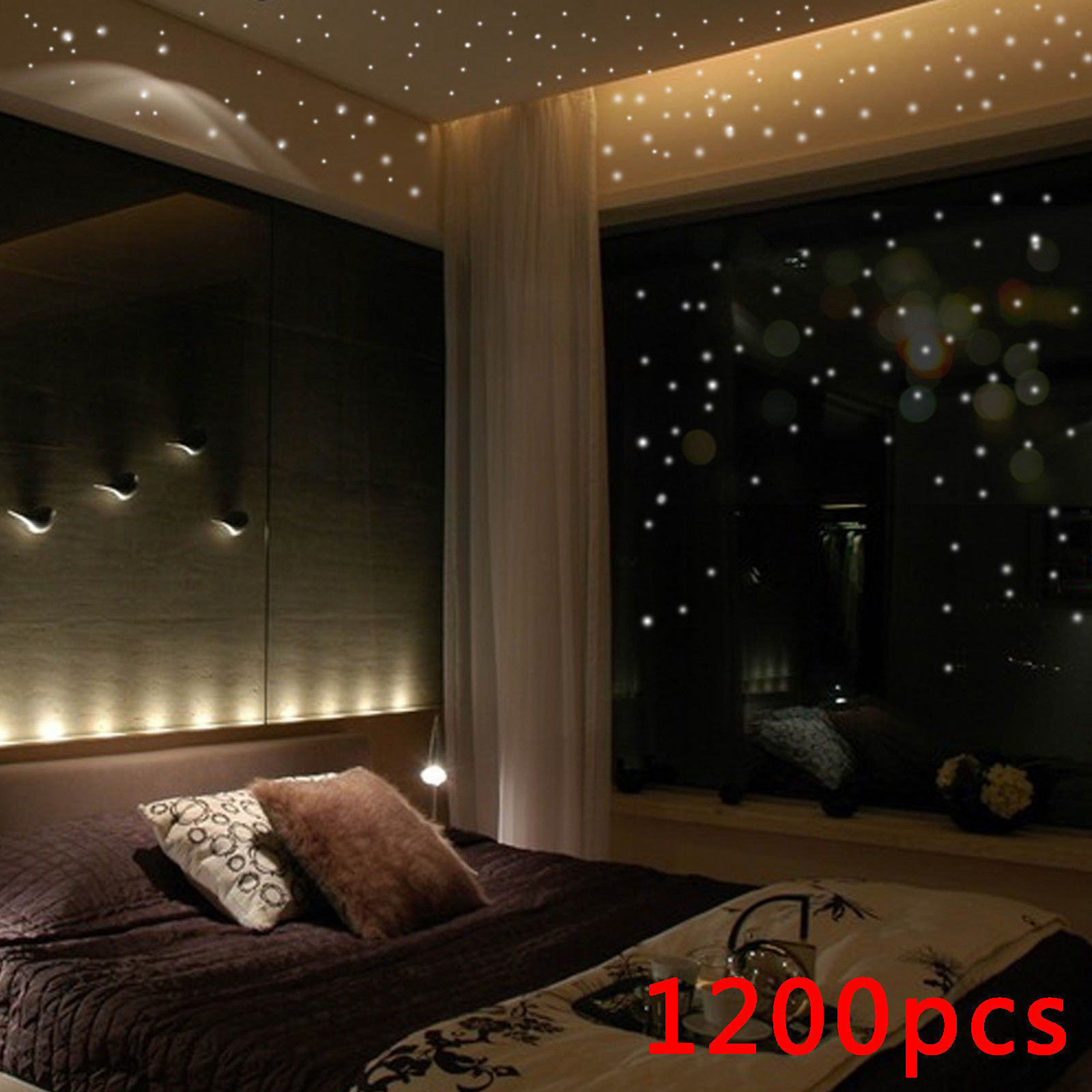 3.89 GBP - 1200P Wall Stickers Glow In The Dark Star Round Dot ...