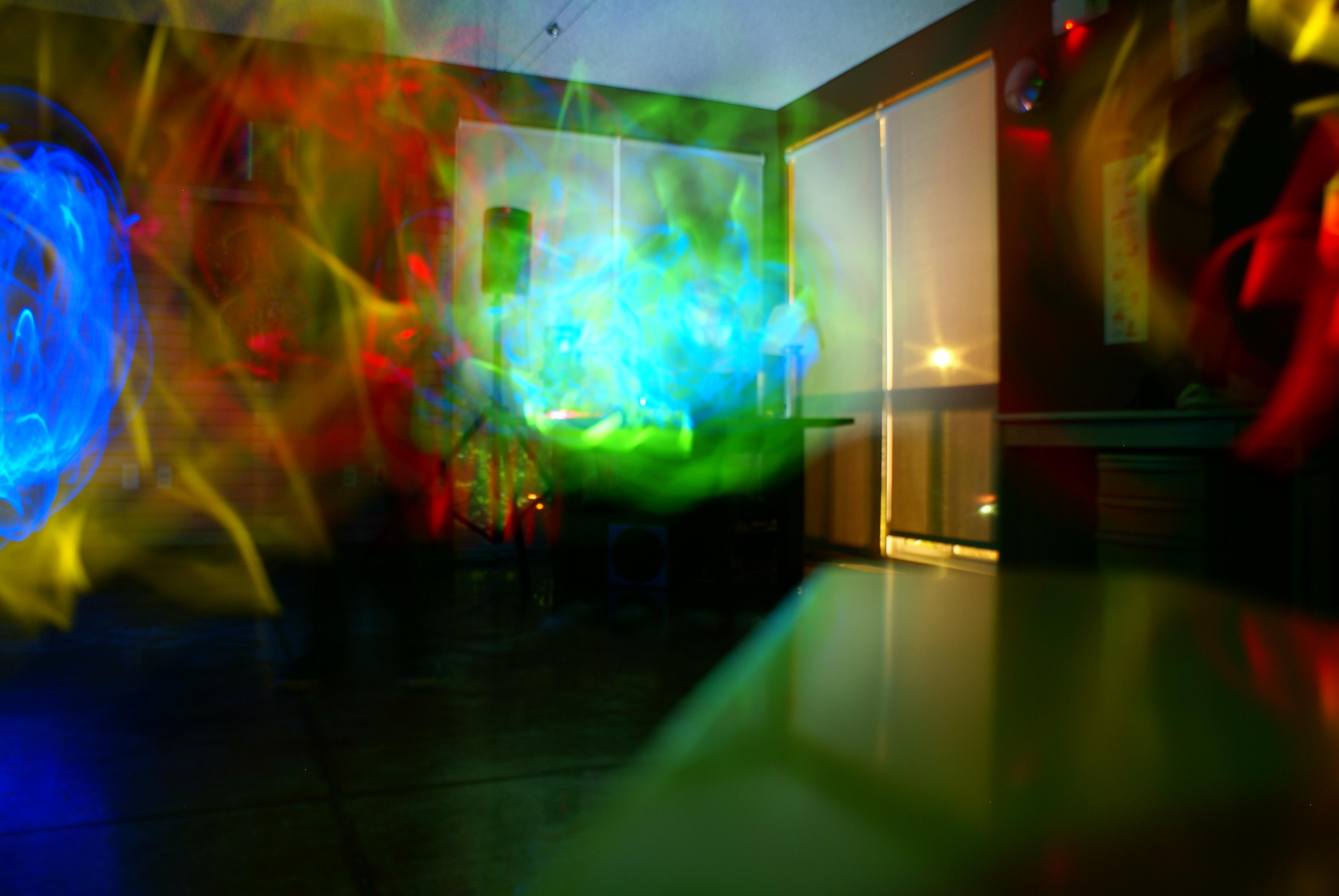 Glowstick dance photo